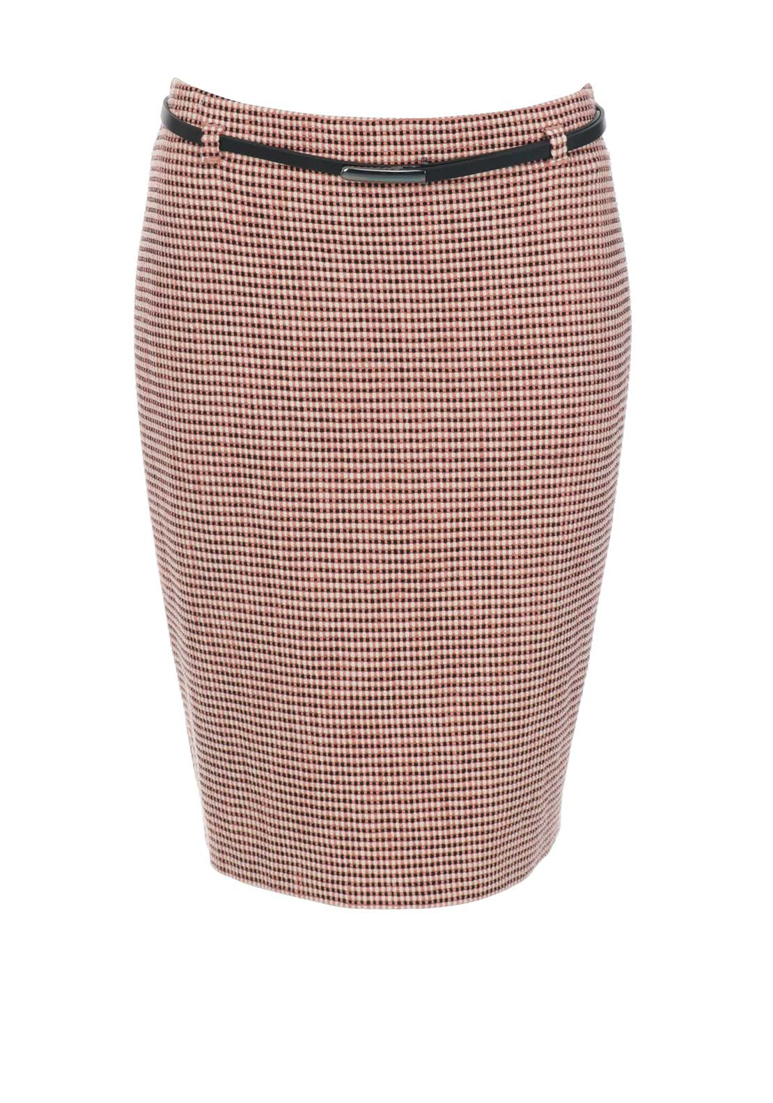 Gerry Weber Woven Print Pencil Skirt, Peach
