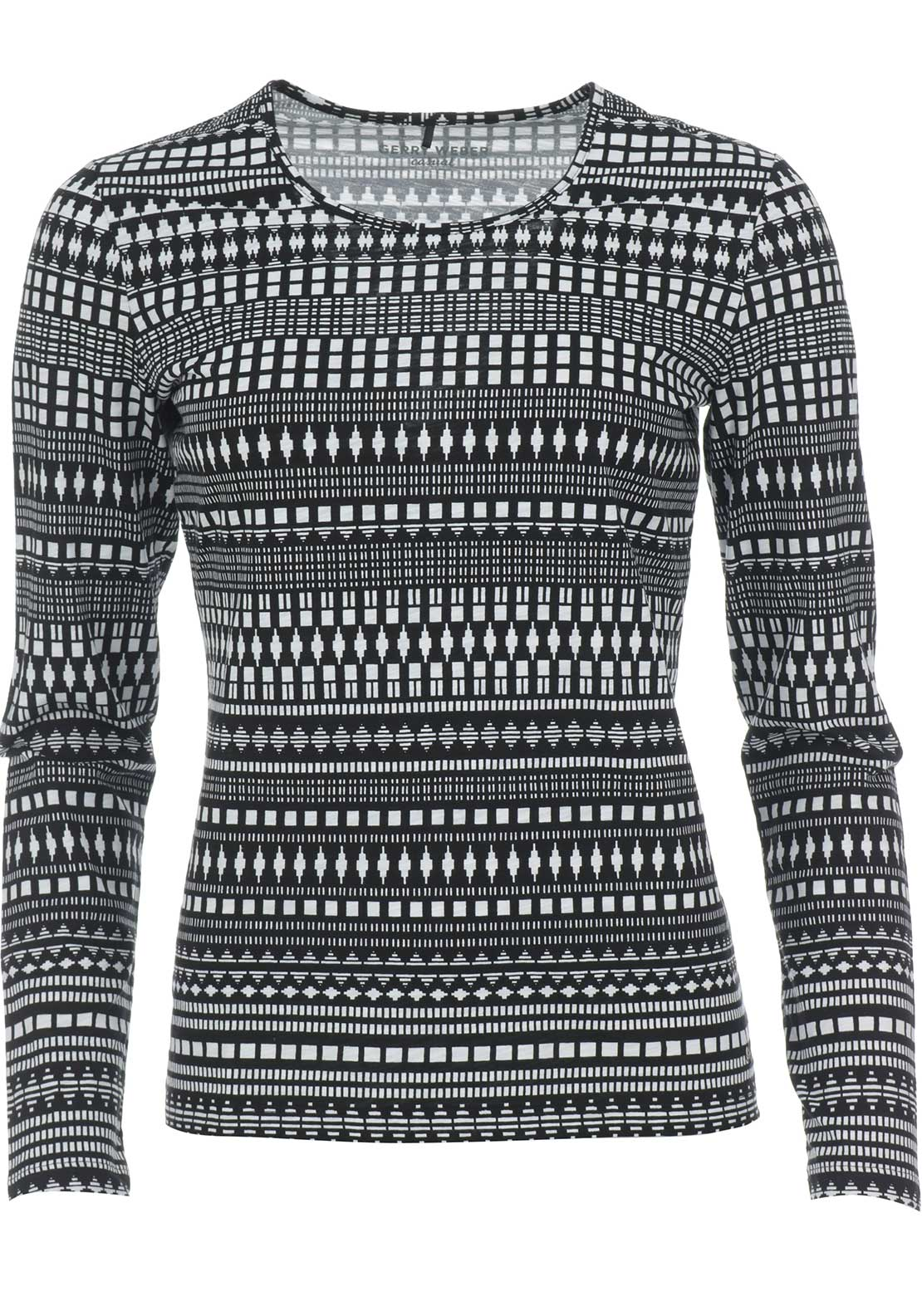 Gerry Weber Ethnic Print Top, Black & White