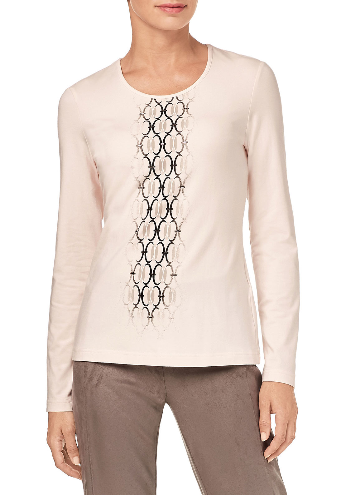 Gerry Weber Circle Print Top, Pink