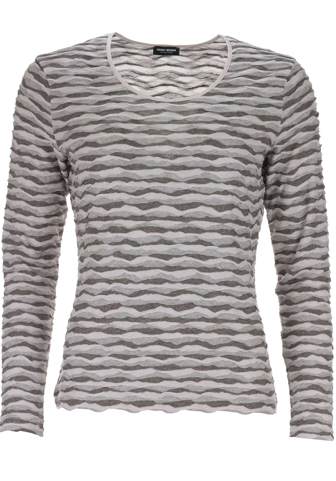 Gerry Weber Textured Print Top, Pink