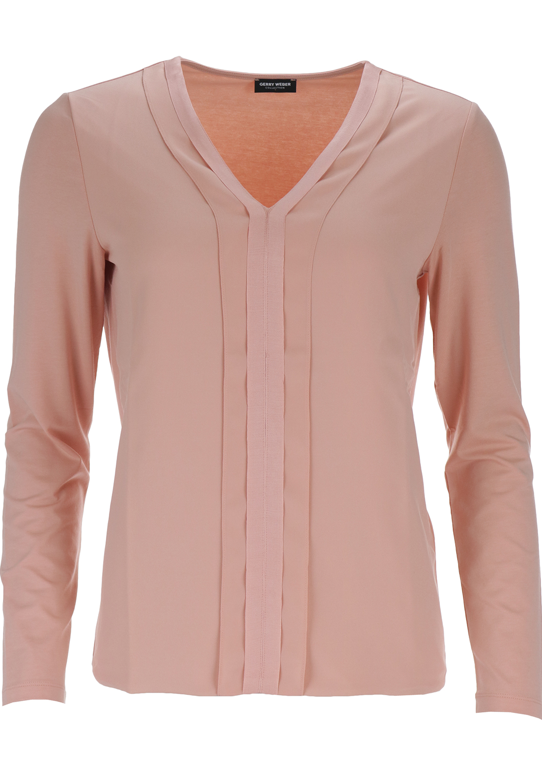 Gerry Weber Ribbon Trim Long Sleeve Top, Peach