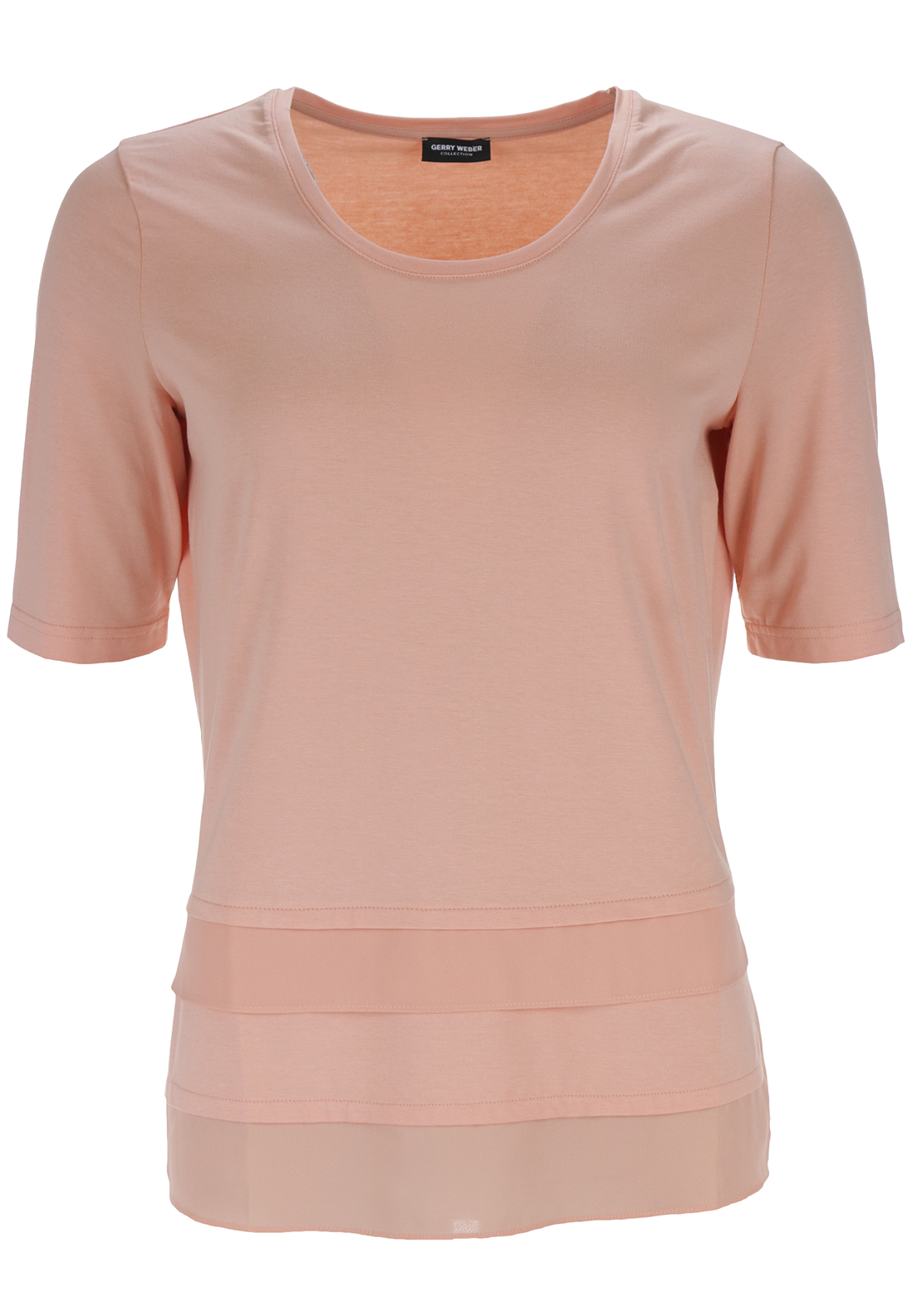 Gerry Weber Chiffon Trim Top, Peach