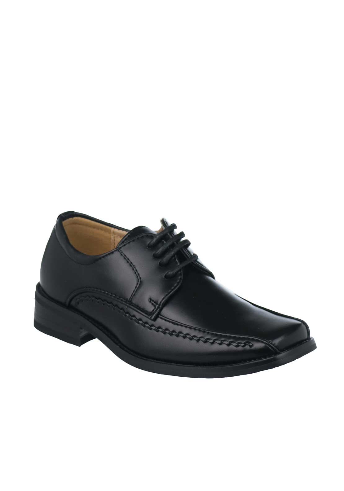 Goor Boys Formal Laced Shoes, Black