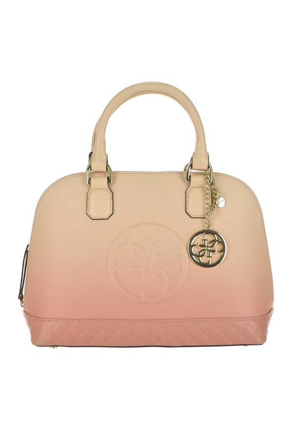 Guess Amy Medium Dome Satchel Bag, Cream & Rose