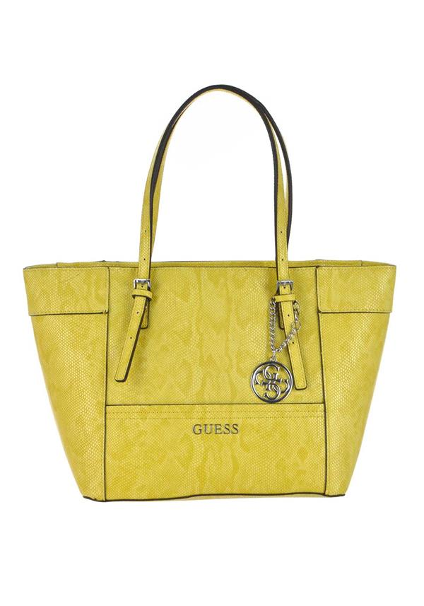 Guess Delaney Small Tote Bag, Sun Yellow