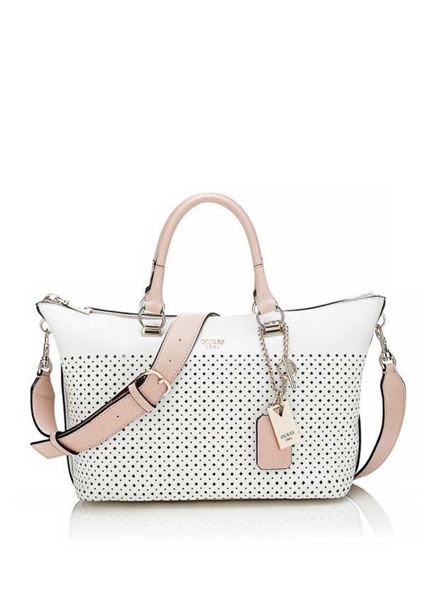 Guess Juliana Satchel Bag, White