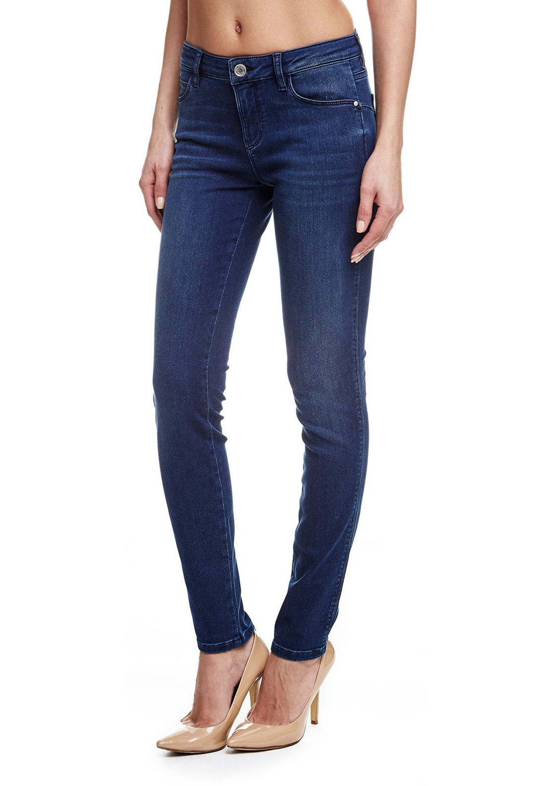 Guess Womens Curve Skinny Jeans, Blue
