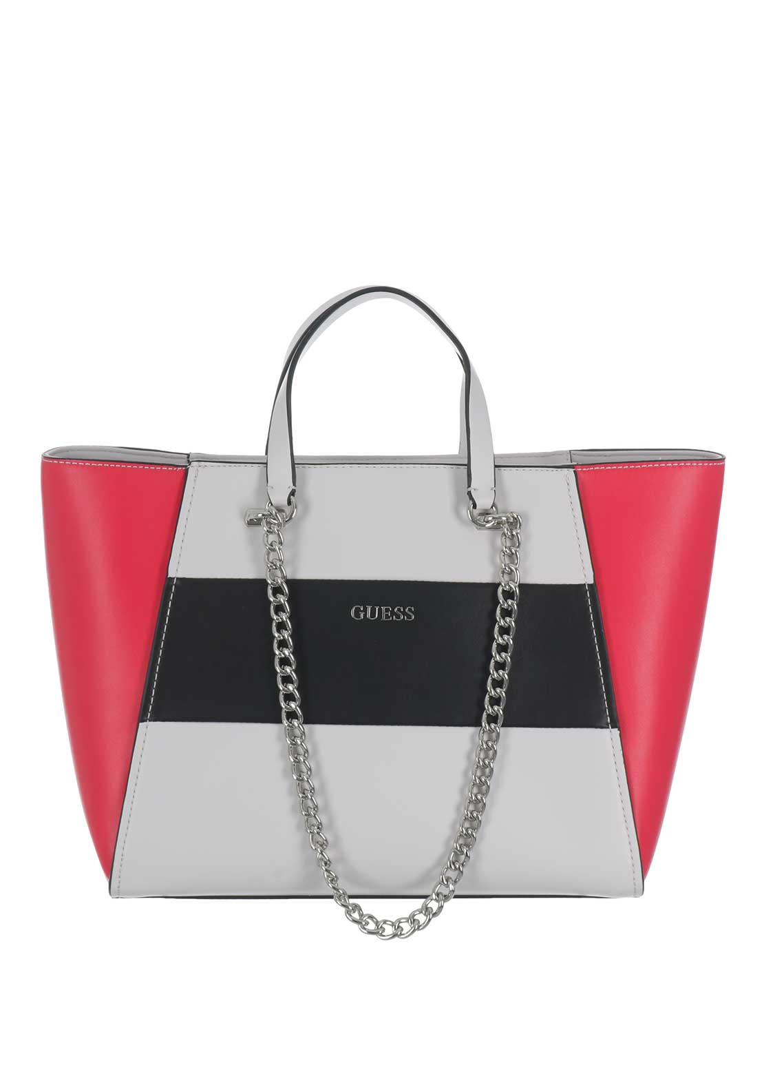 Guess NIkki Chain Tote Bag, Red Multi