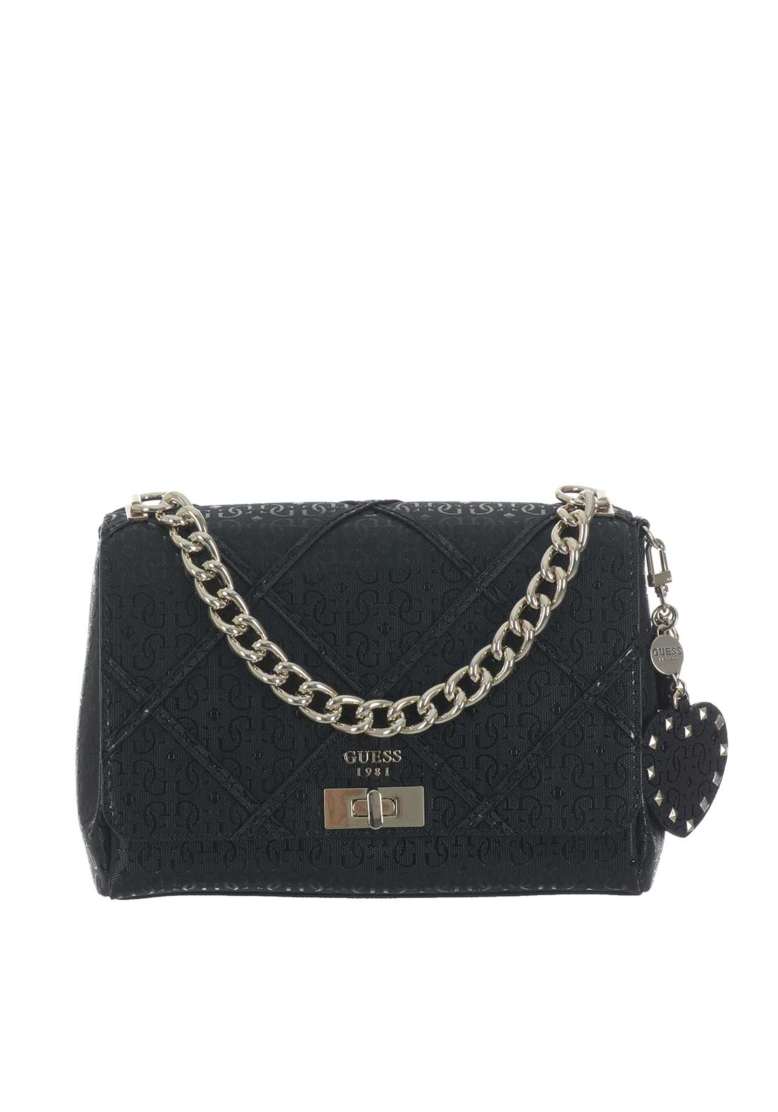 Guess Winett Bag with Cross Over Straps, Black