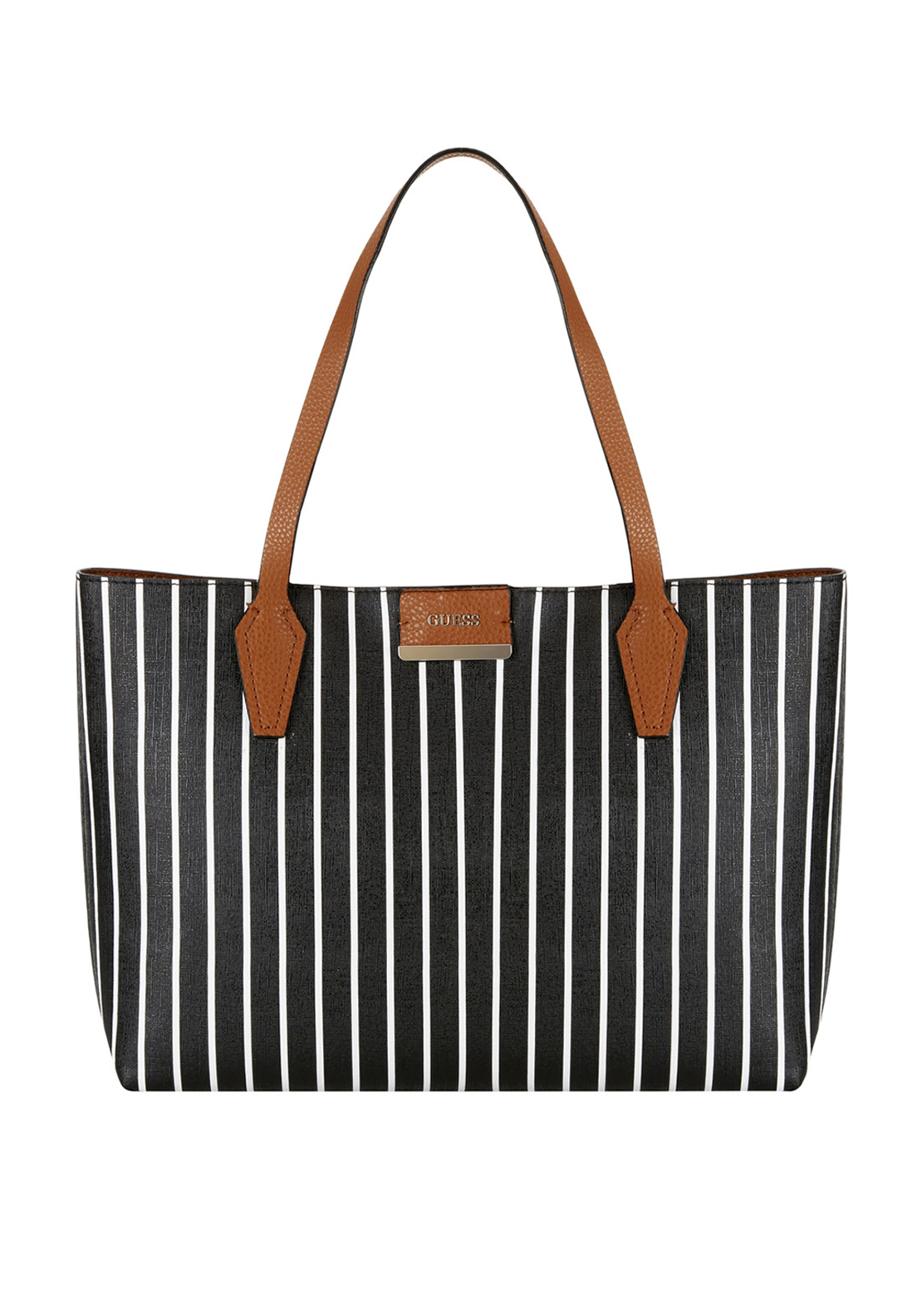 Guess Bobbi Reversible Tote Bag, Black & White