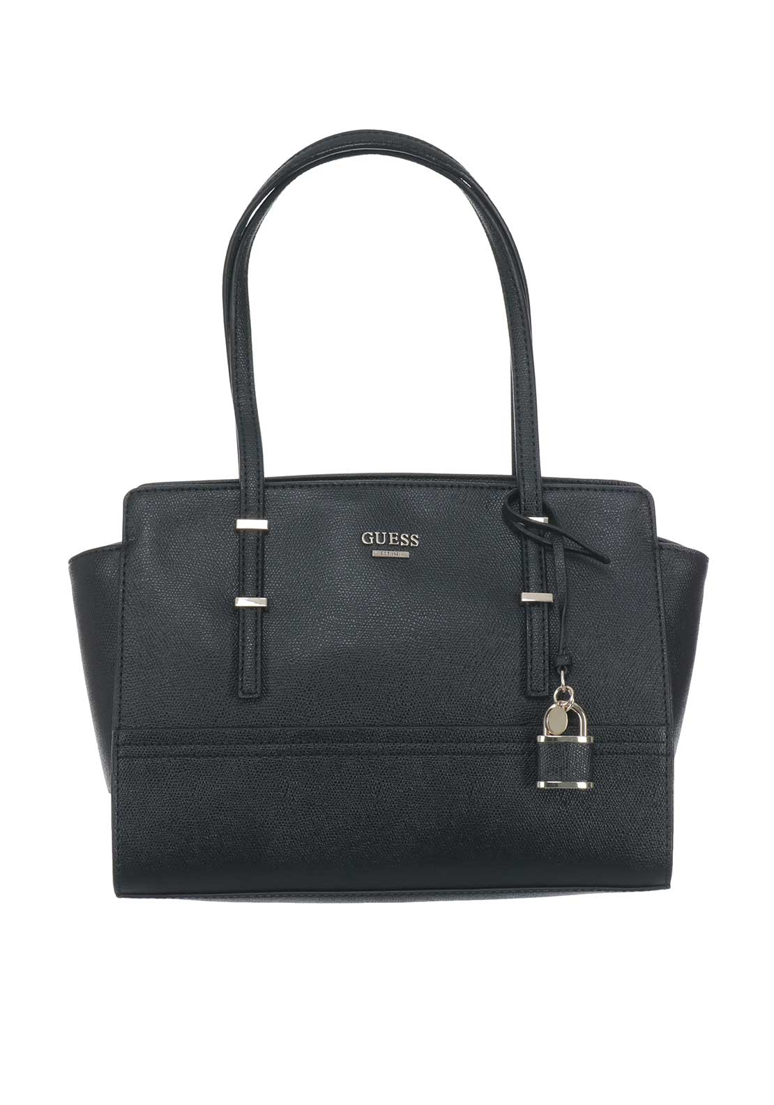 Guess Devyn Satchel Bag, Black