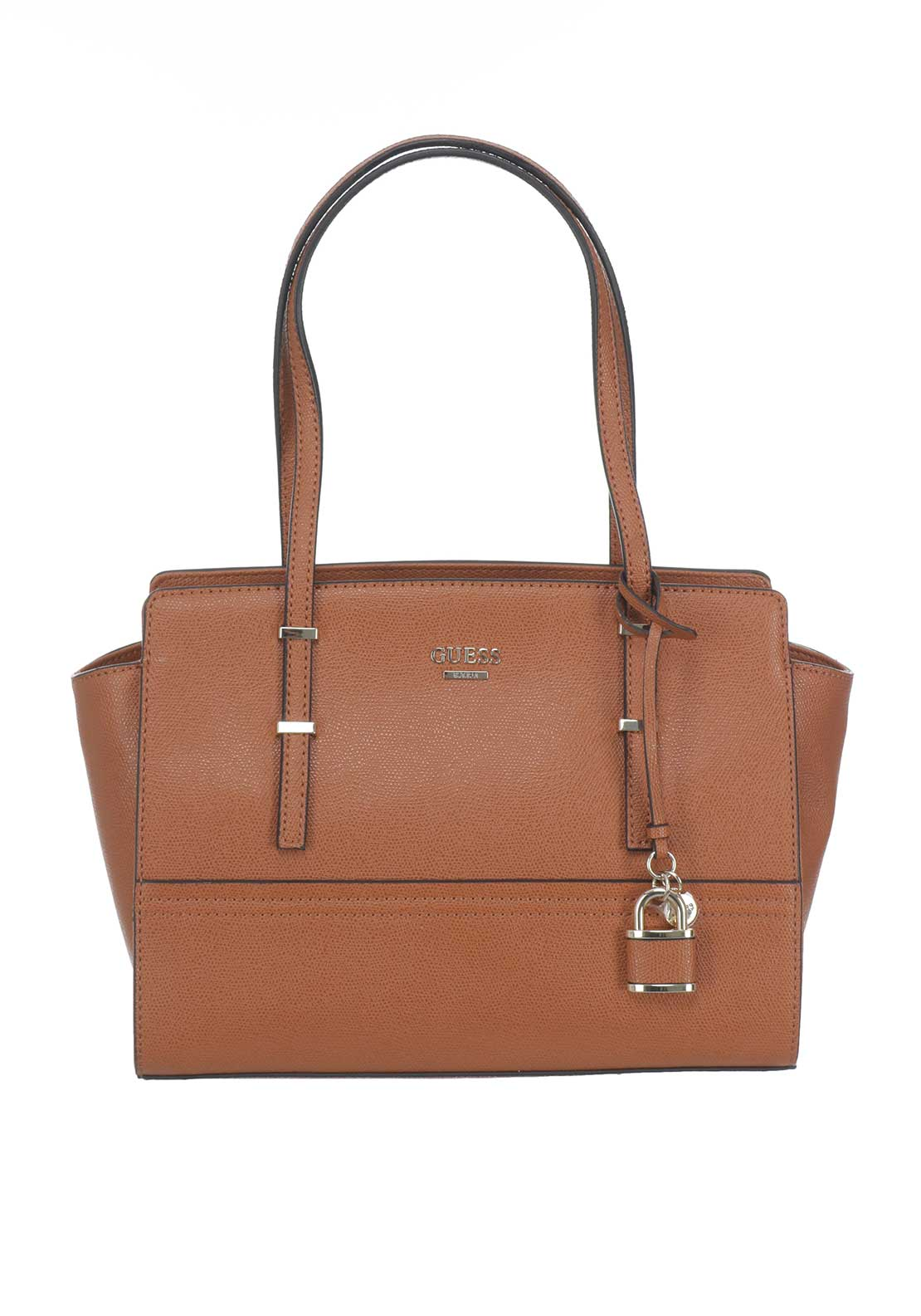 Guess Devyn Satchel Bag, Brown