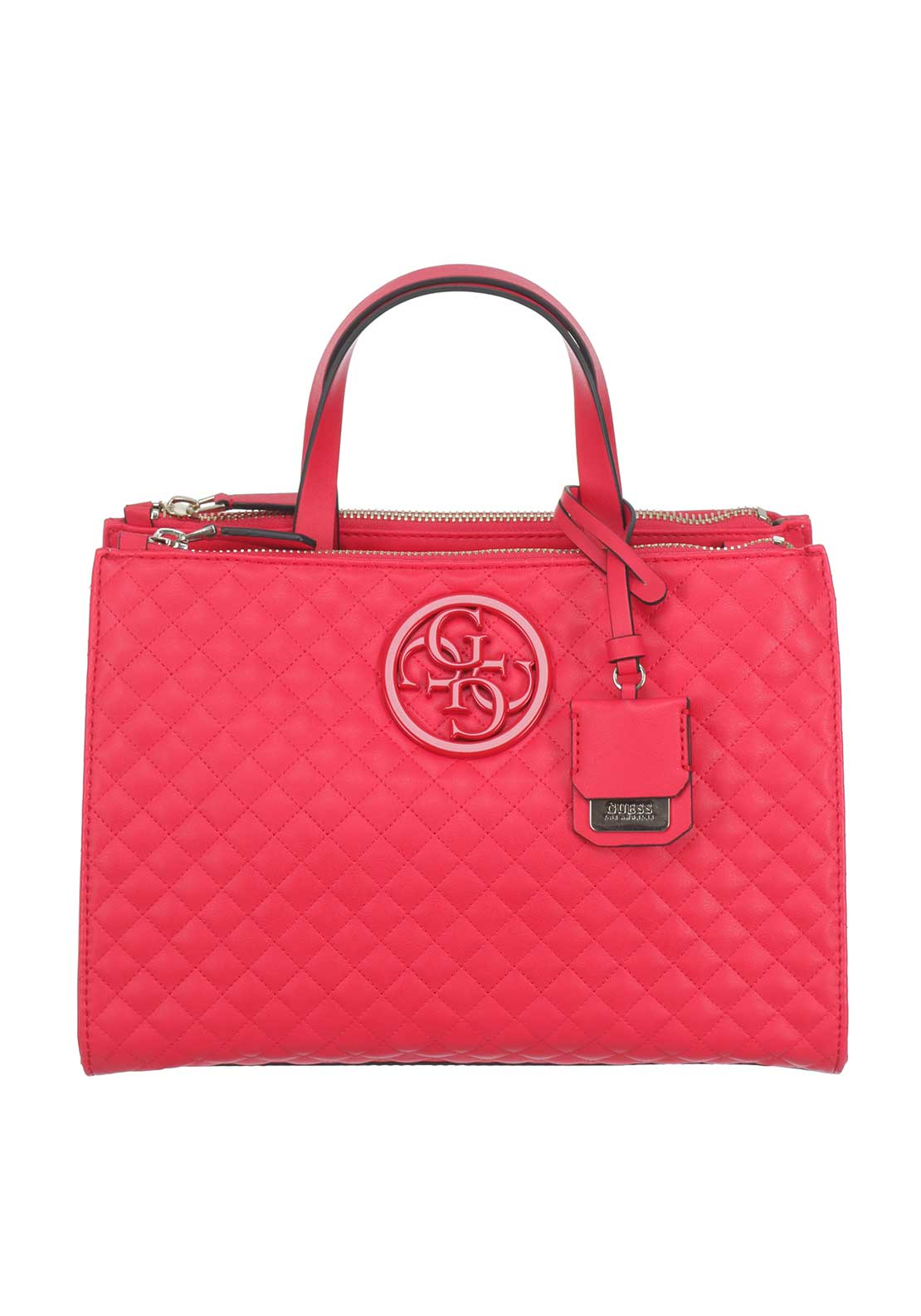 Guess G Lux Quilted Handbag, Red