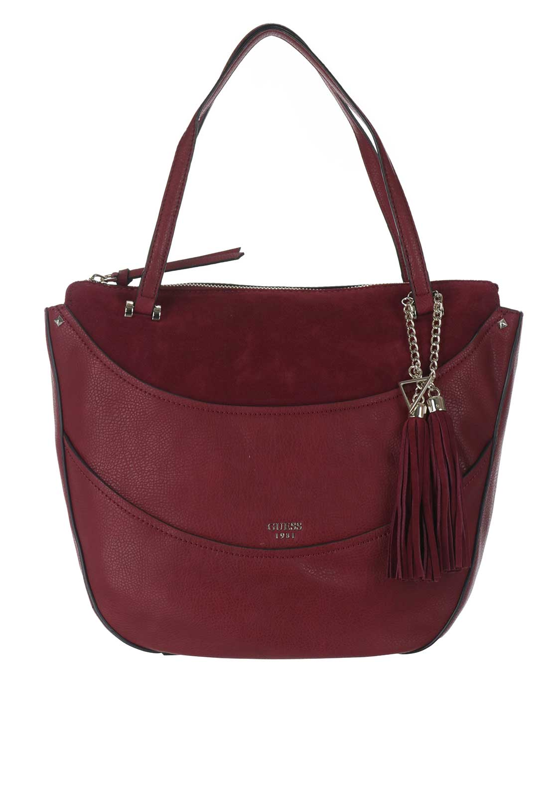 Guess Solene Shoulder Bag, Bordeaux