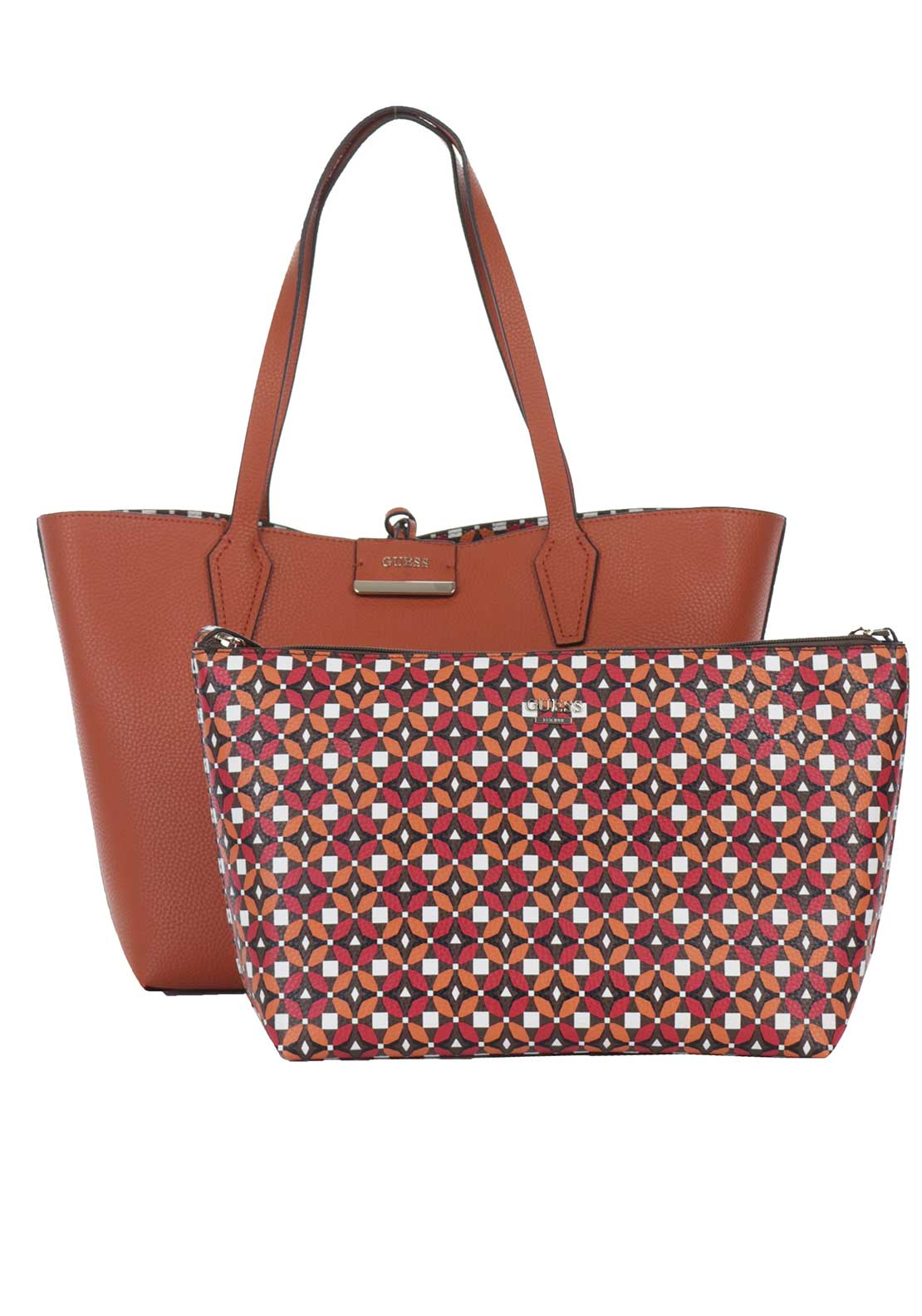 Guess Bobbi Reversible Tote Bag, Spice Multi
