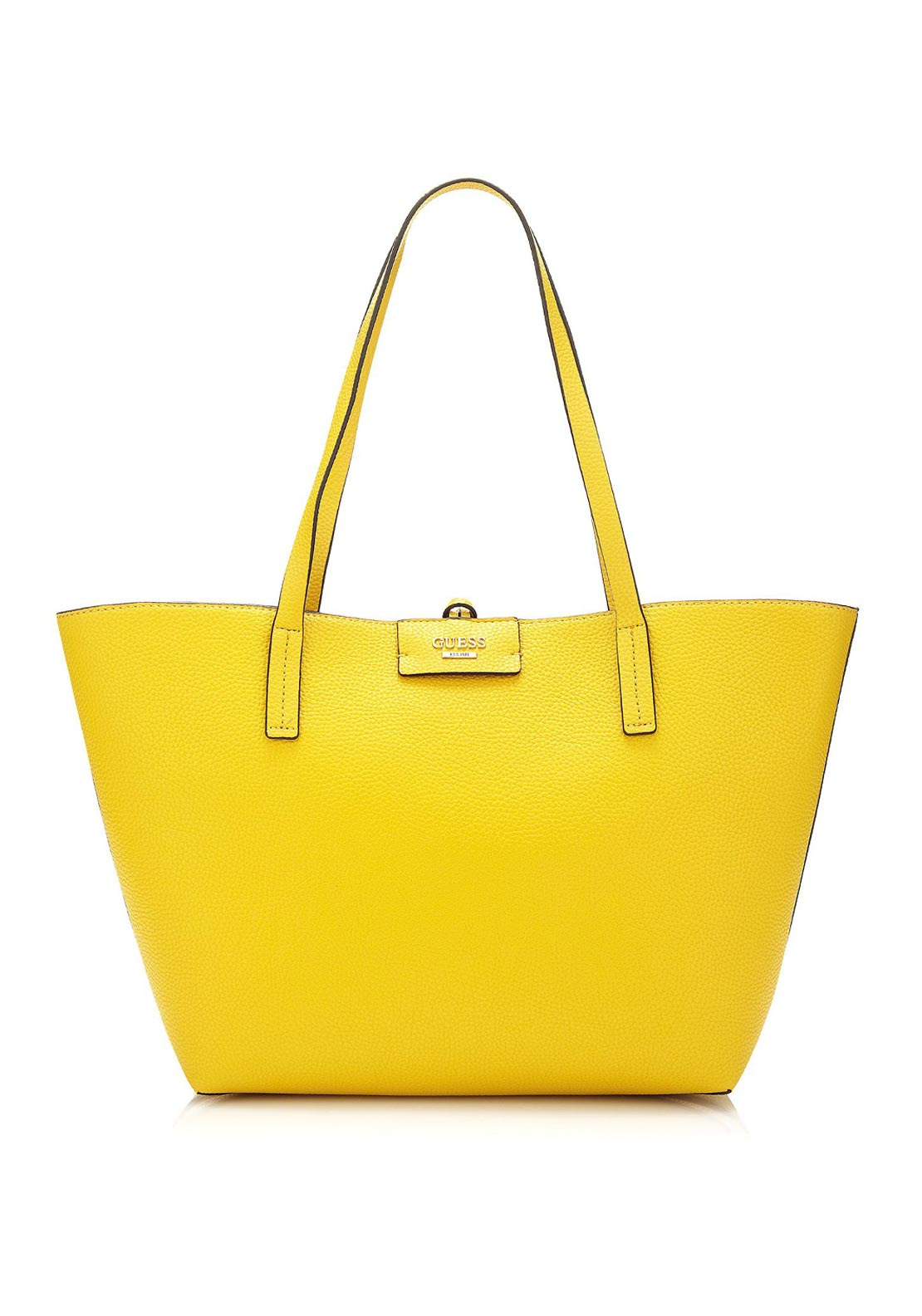 Guess Bobbi Reversible Tote Bag, Sun Yellow Multi