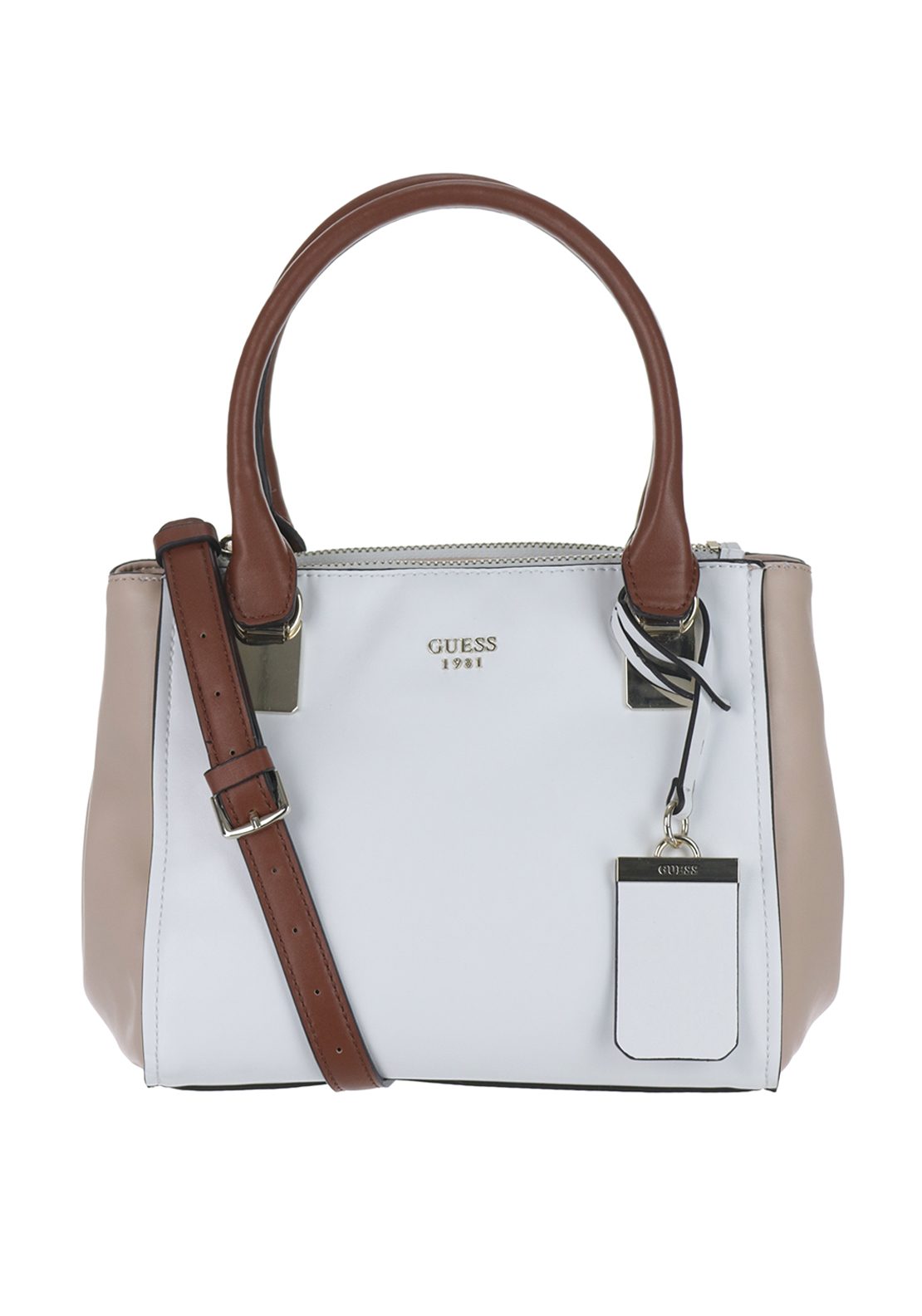 Guess Camylle Grab Bag, White Multi