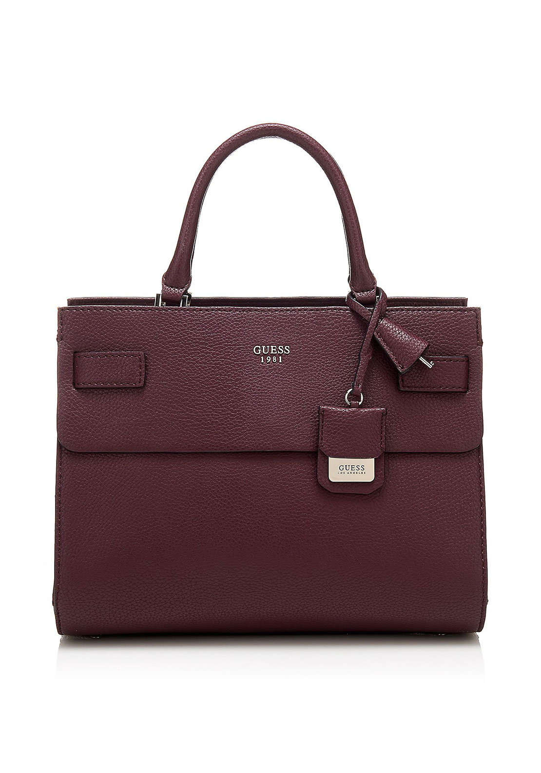 Guess Cate Rigid Tote Bag, Bordeaux
