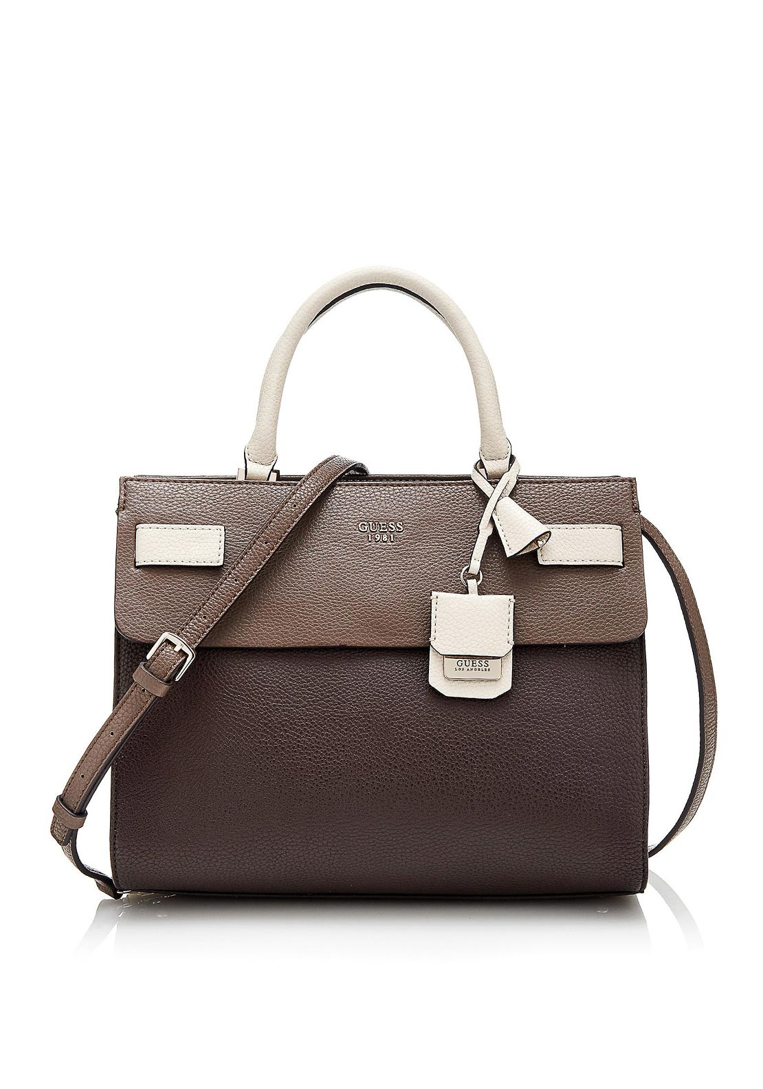 Guess Cate Rigid Grab Bag, Brown