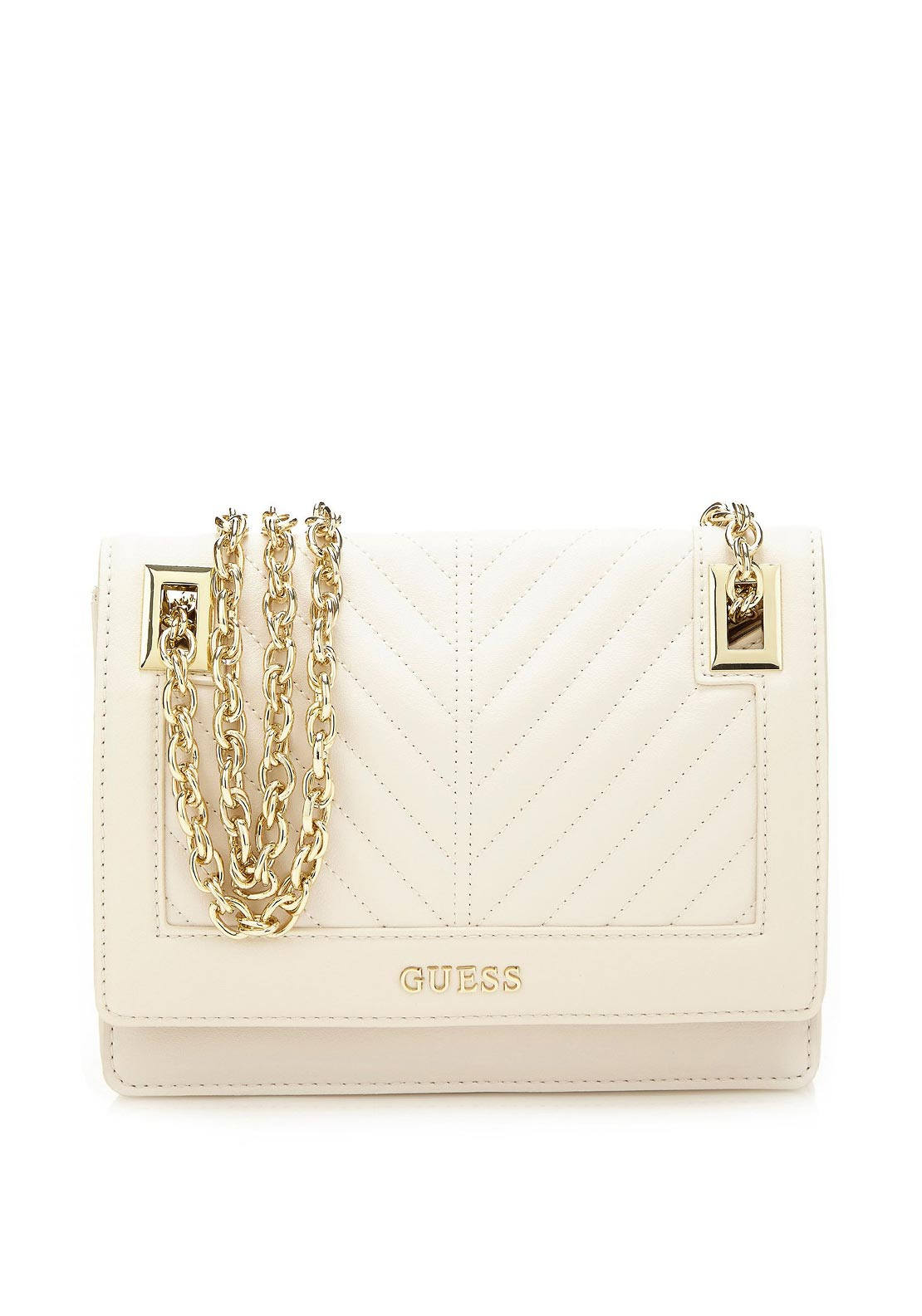 Guess Addison Convertible Crossbody Bag, Ivory
