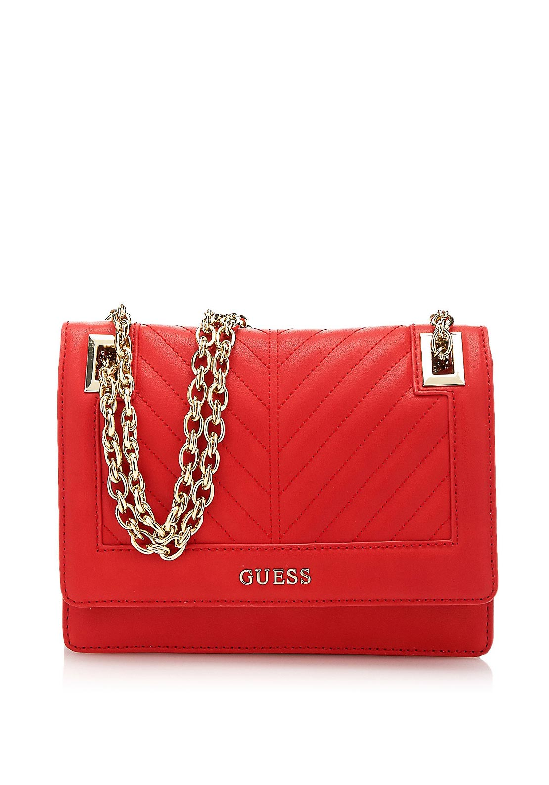 Guess Addison Convertible Crossbody Bag, Red