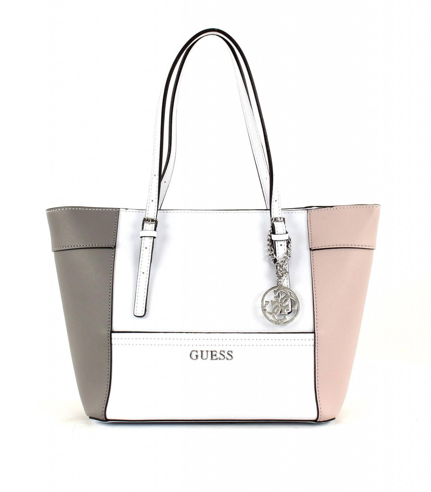 Guess Delaney Classic Panel Tote Bag, Cloud Multi