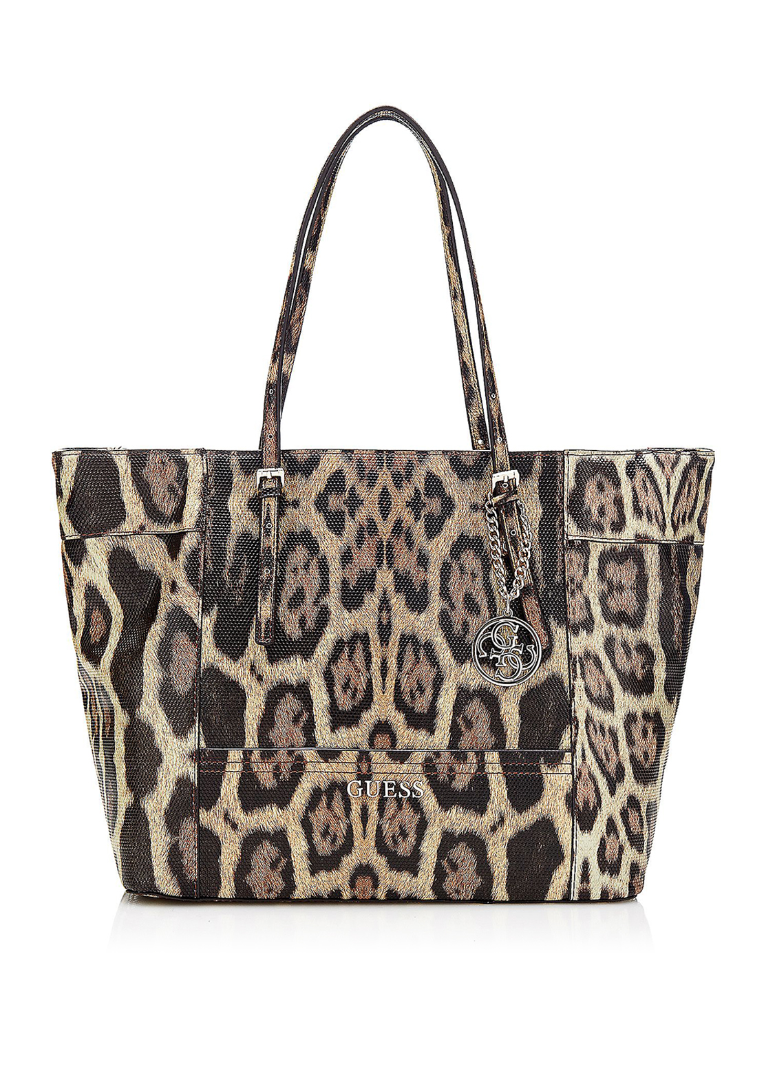 Guess Delaney Leopard Print Tote Bag, Multi