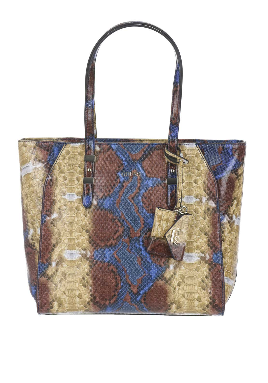 Guess Gia Phyton Print Shopper Tote Bag, Phyton