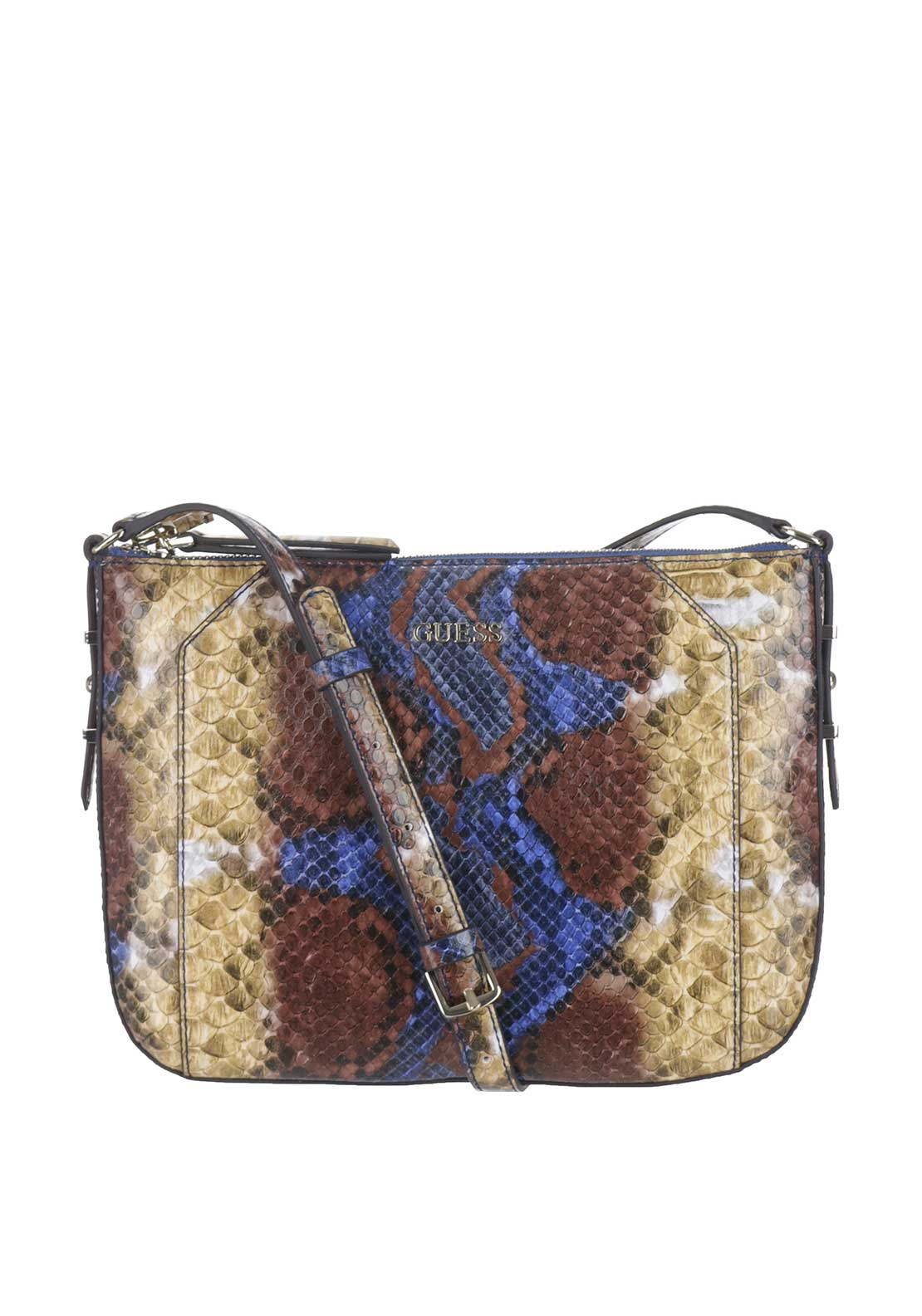 Guess Gia Phyton Print Crossbody Bag, Phyton