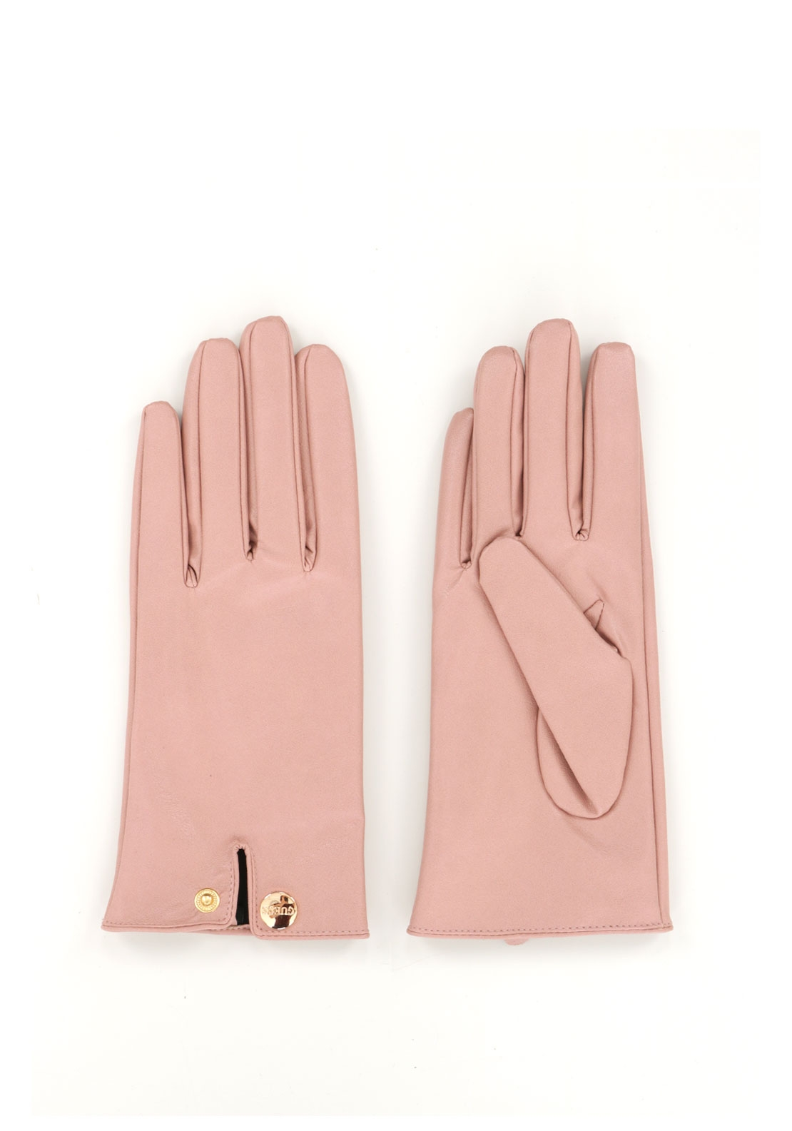 Guess Faux Leather Gloves, Blush