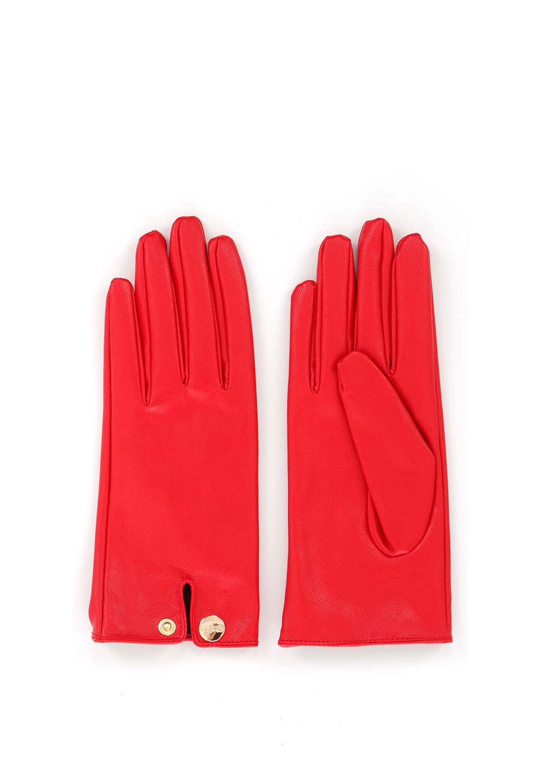 Guess Faux Leather Gloves, Red