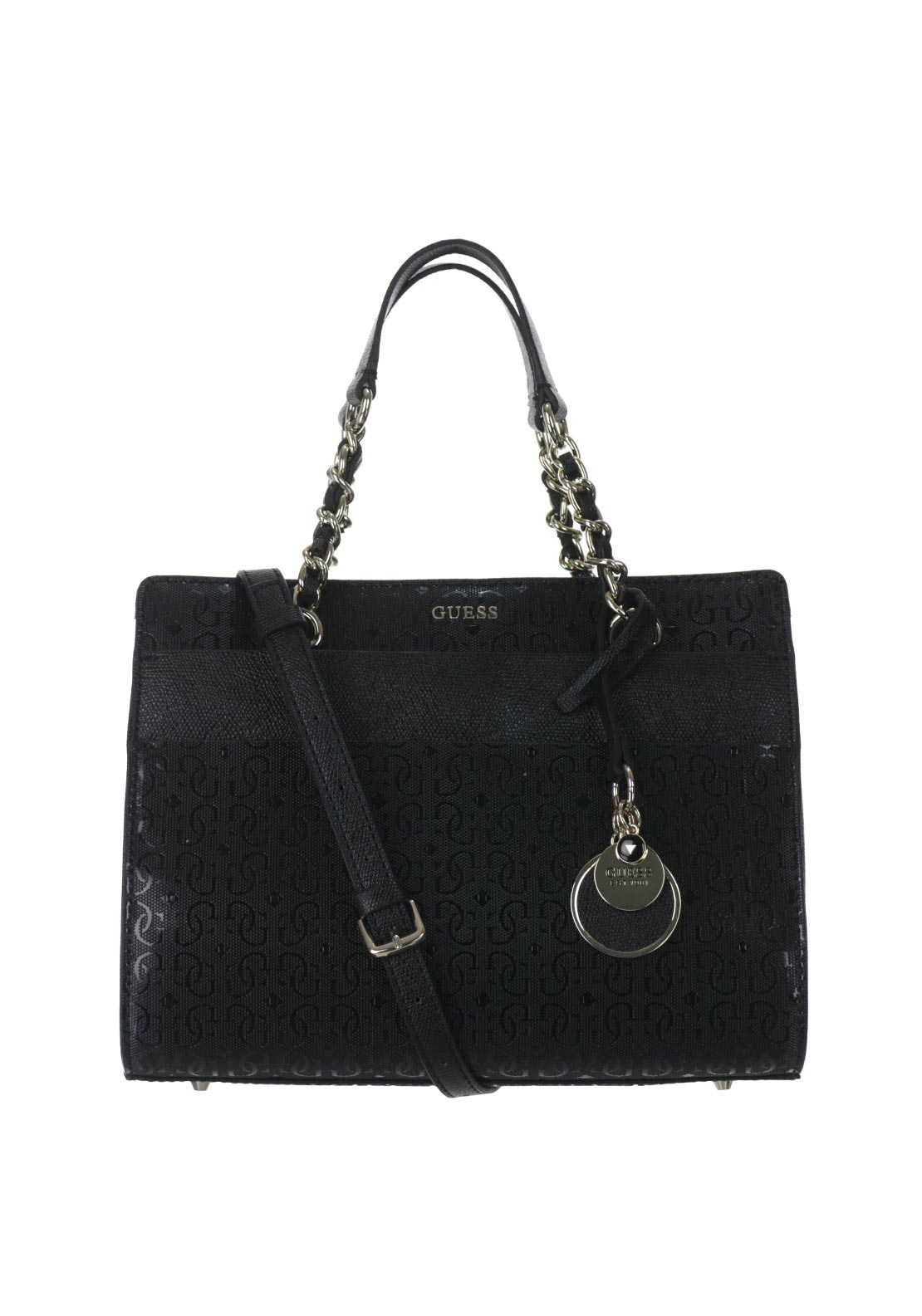 Guess Janette Logo Grab Bag, Black