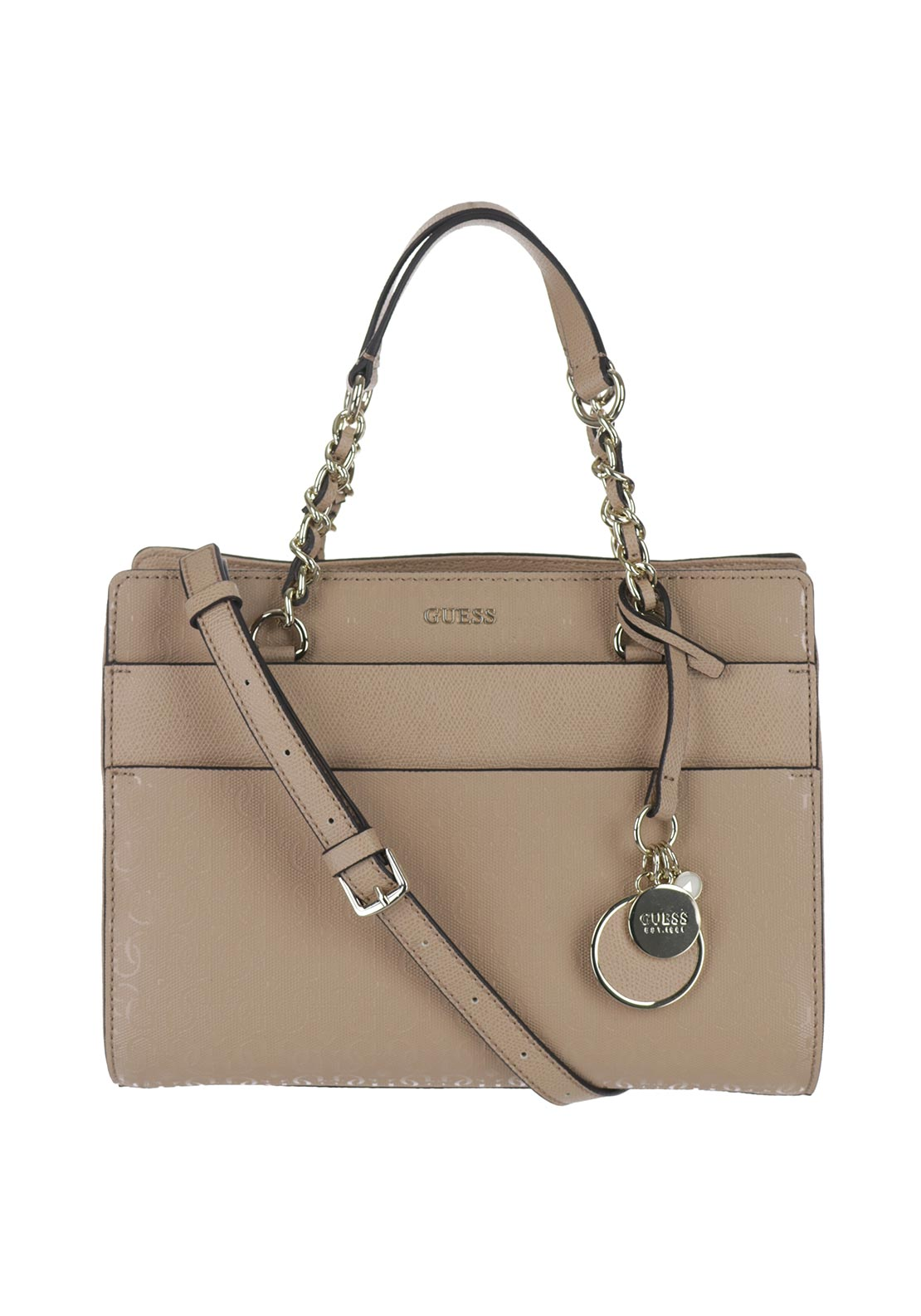 Guess Janette Logo Grab Bag, Tan