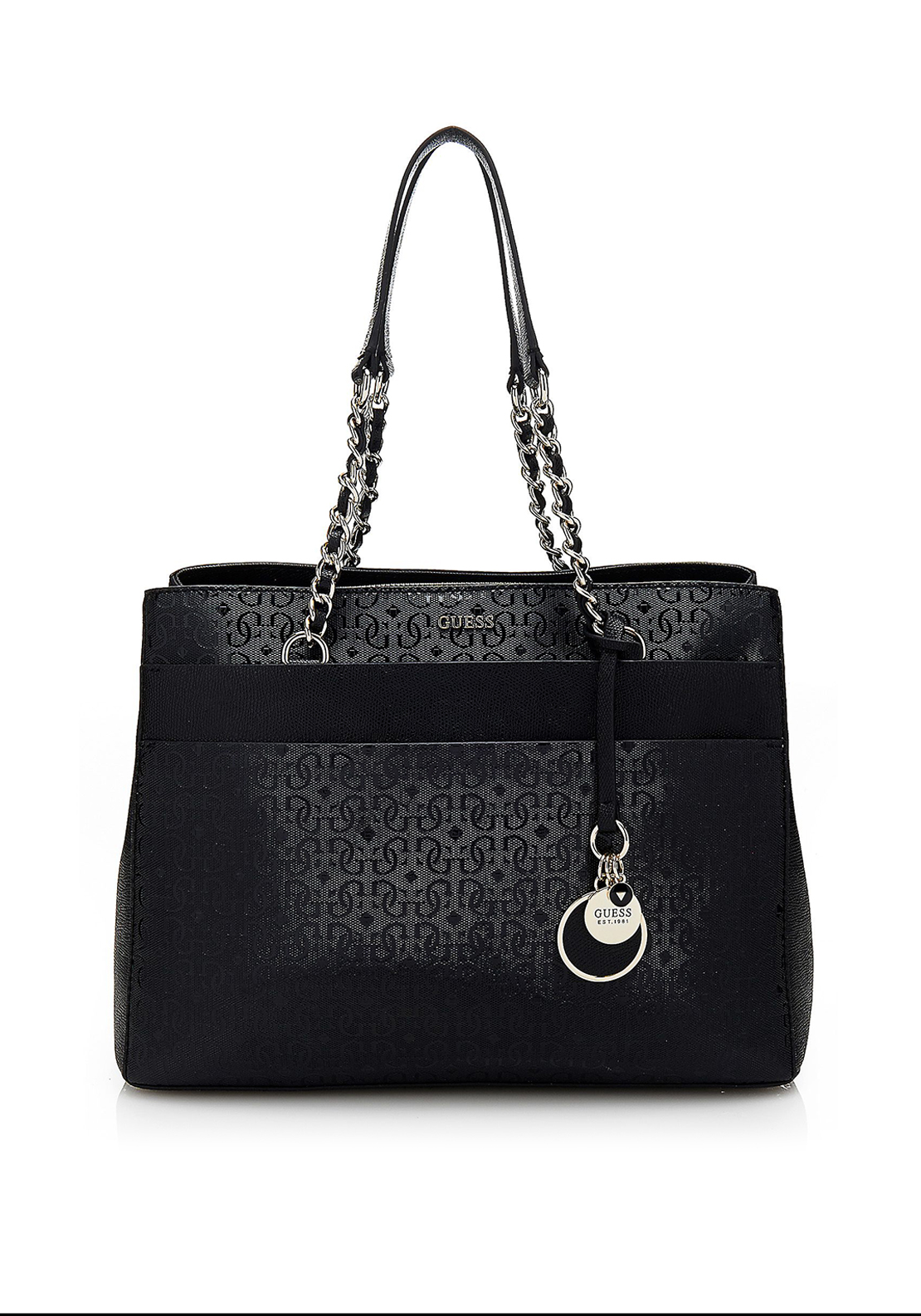 Guess Janette Logo Tote Bag, Black