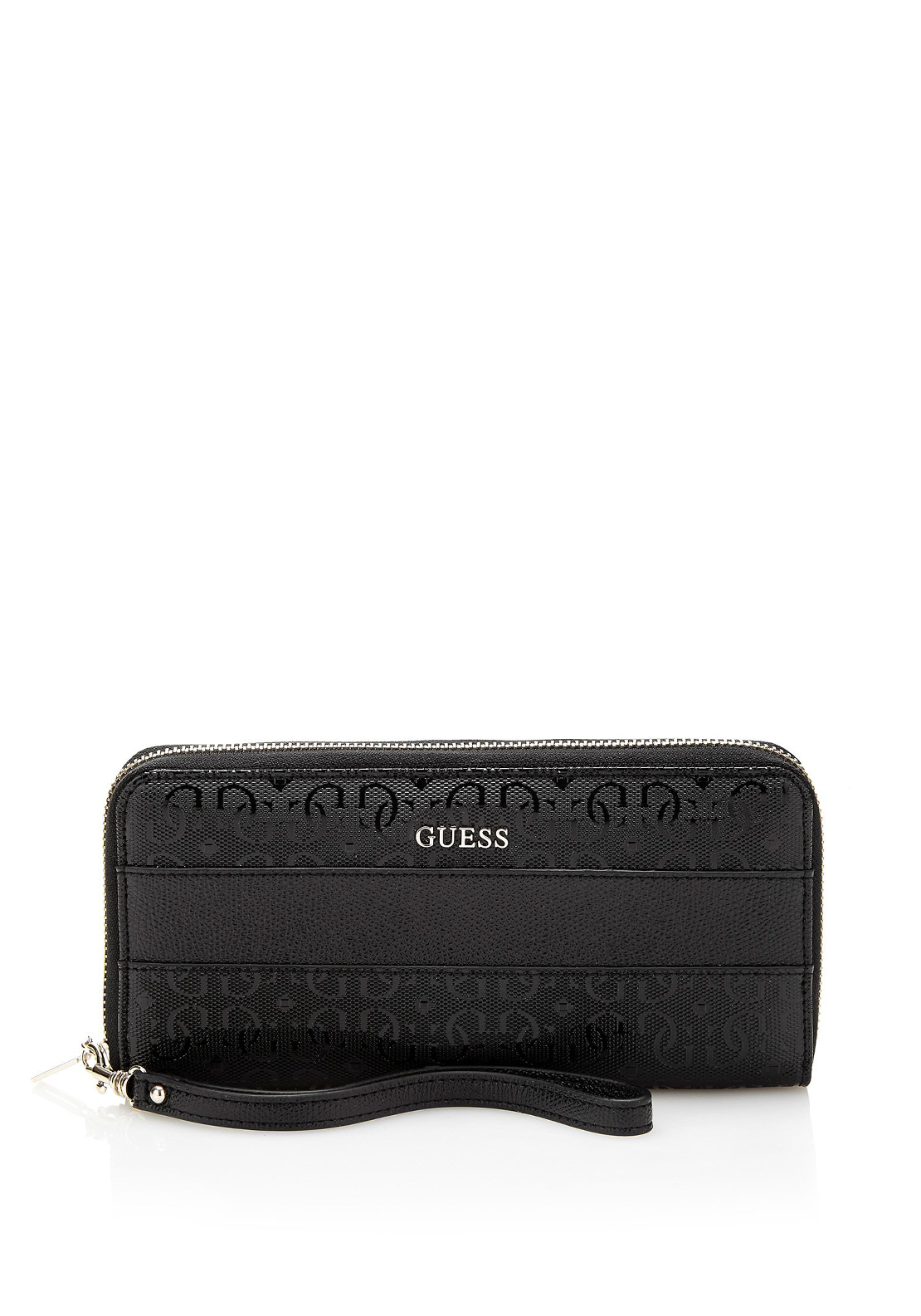 Guess Janette Zip around Large Wristlet Purse, Black