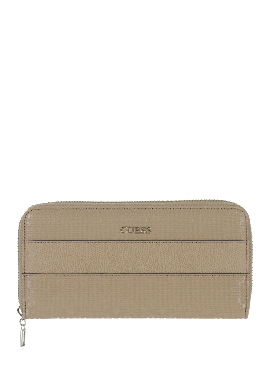 Guess Janette Zip around Large Wristlet Purse, Tan