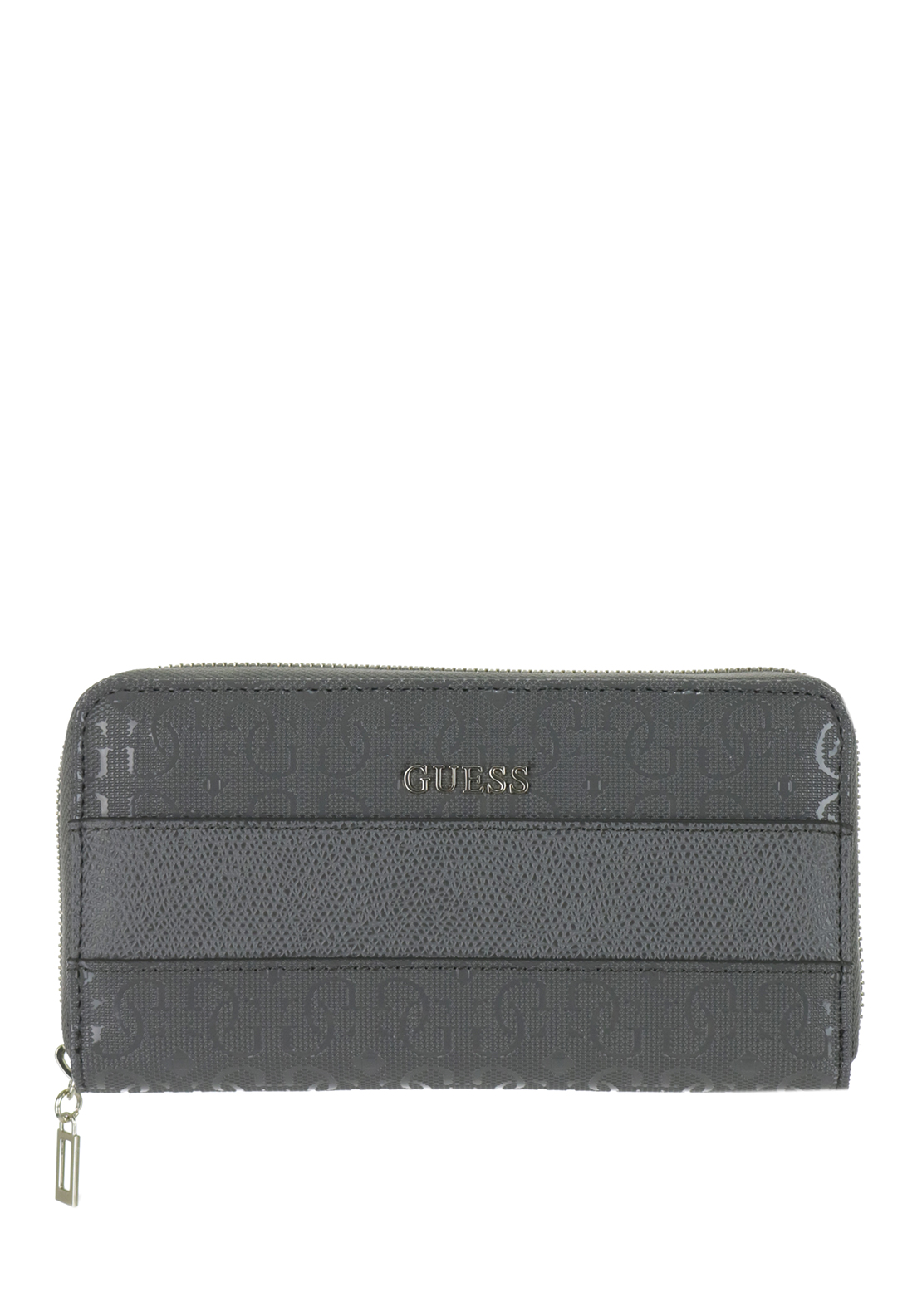Guess Janette Zip around Medium Wristlet Purse, Grey