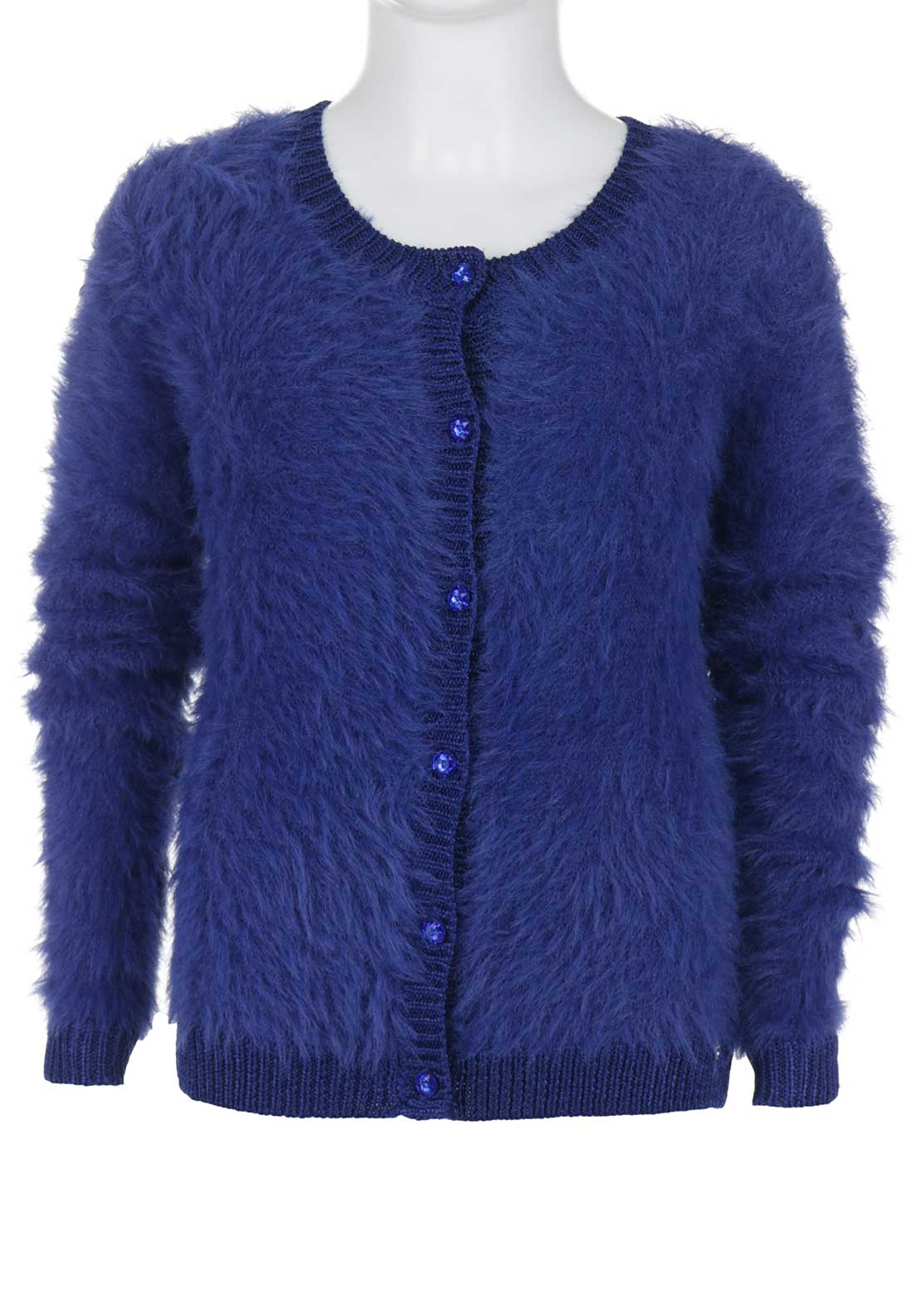 Guess Girls Faux Fur Cardigan, Royal Blue