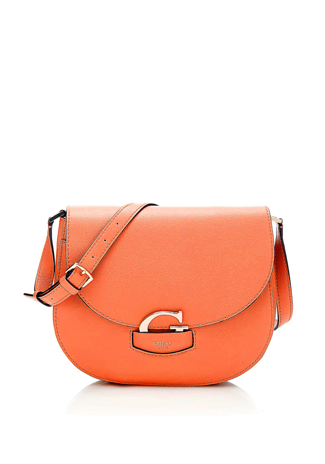 Guess Lexxi Saddle Shoulder Bag, Orange