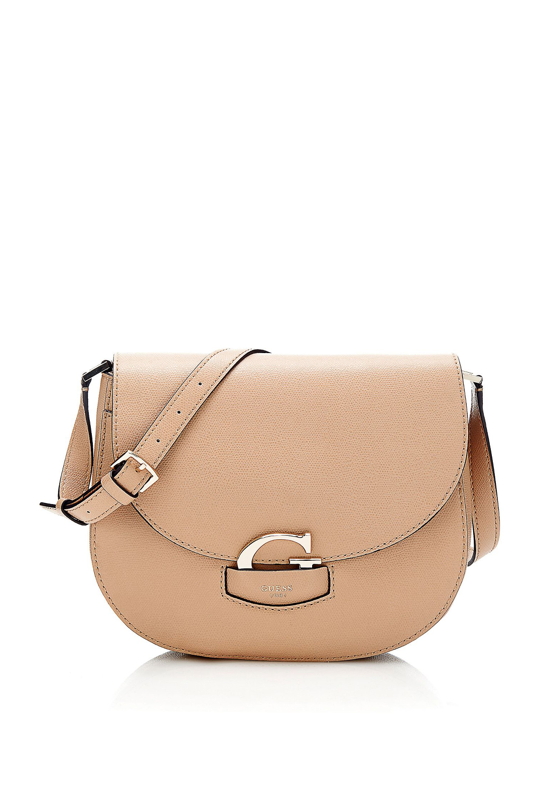 Guess Lexxi Saddle Shoulder Bag, Tan