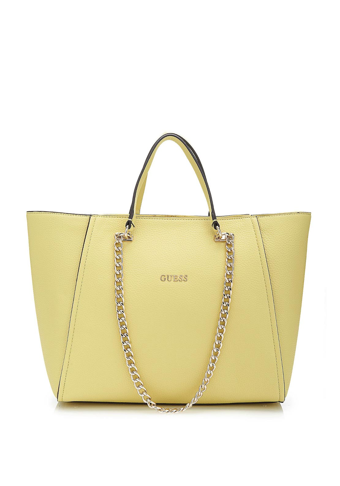Guess Nikki Chain Tote Bag, Citron