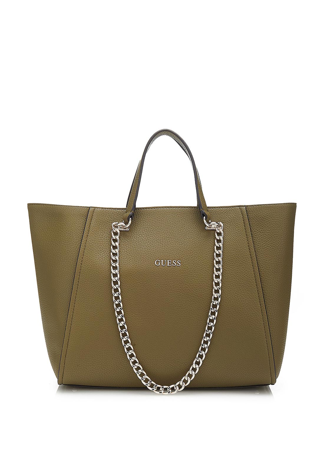 Guess Nikki Chain Tote Bag, Olive