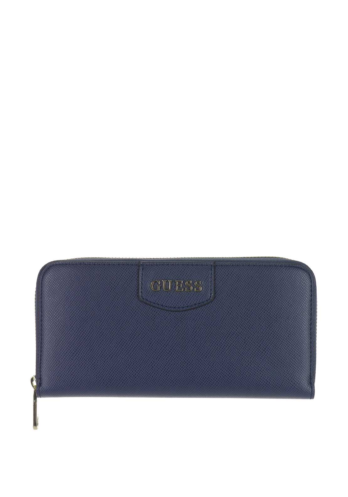 Guess Aria Zip Around Wallet, Navy