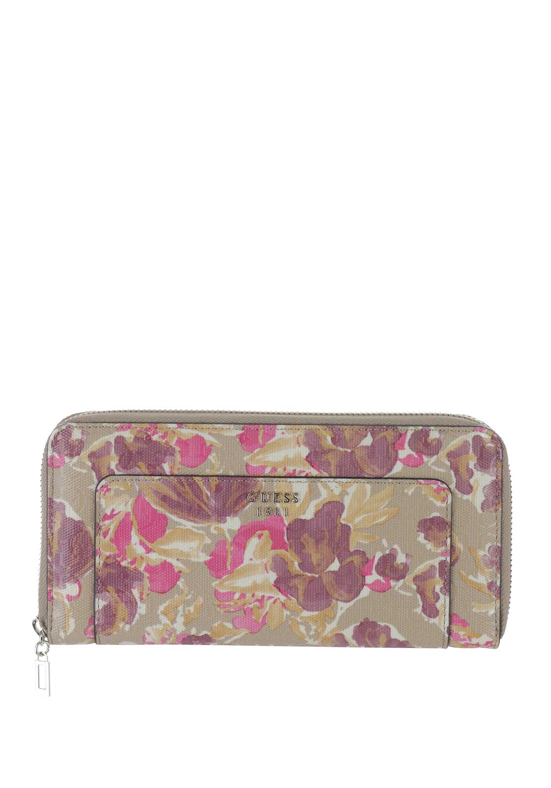 Guess Marian SLG Zip Around Purse, Floral Multi
