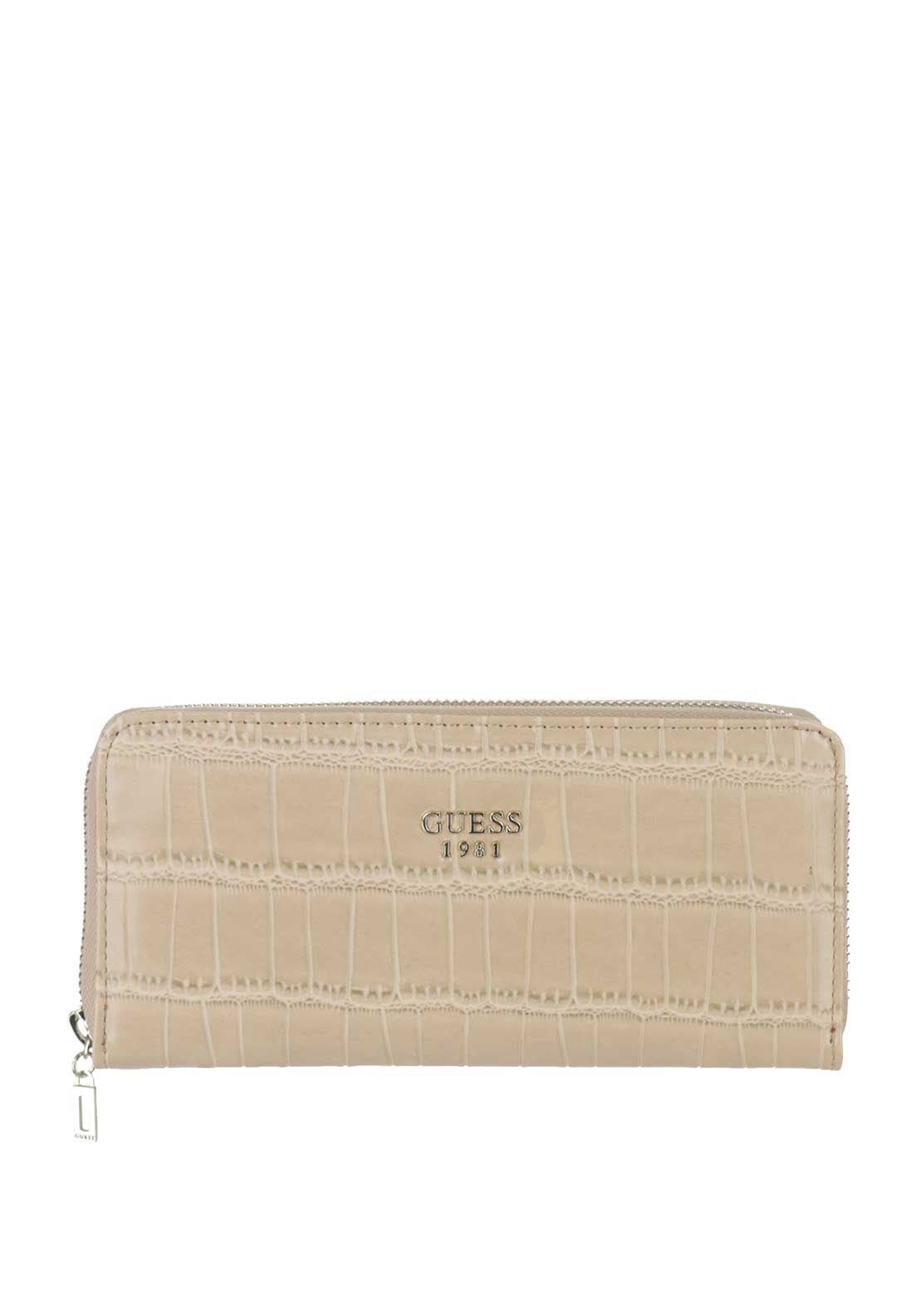 Guess Cate SLG Croc Print Purse, Nut