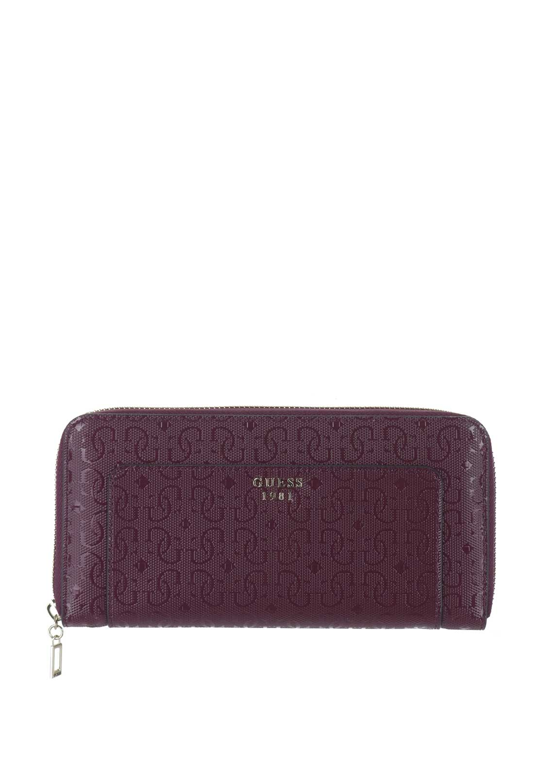 Guess Marian SLG Zip Around Purse, Bordeaux