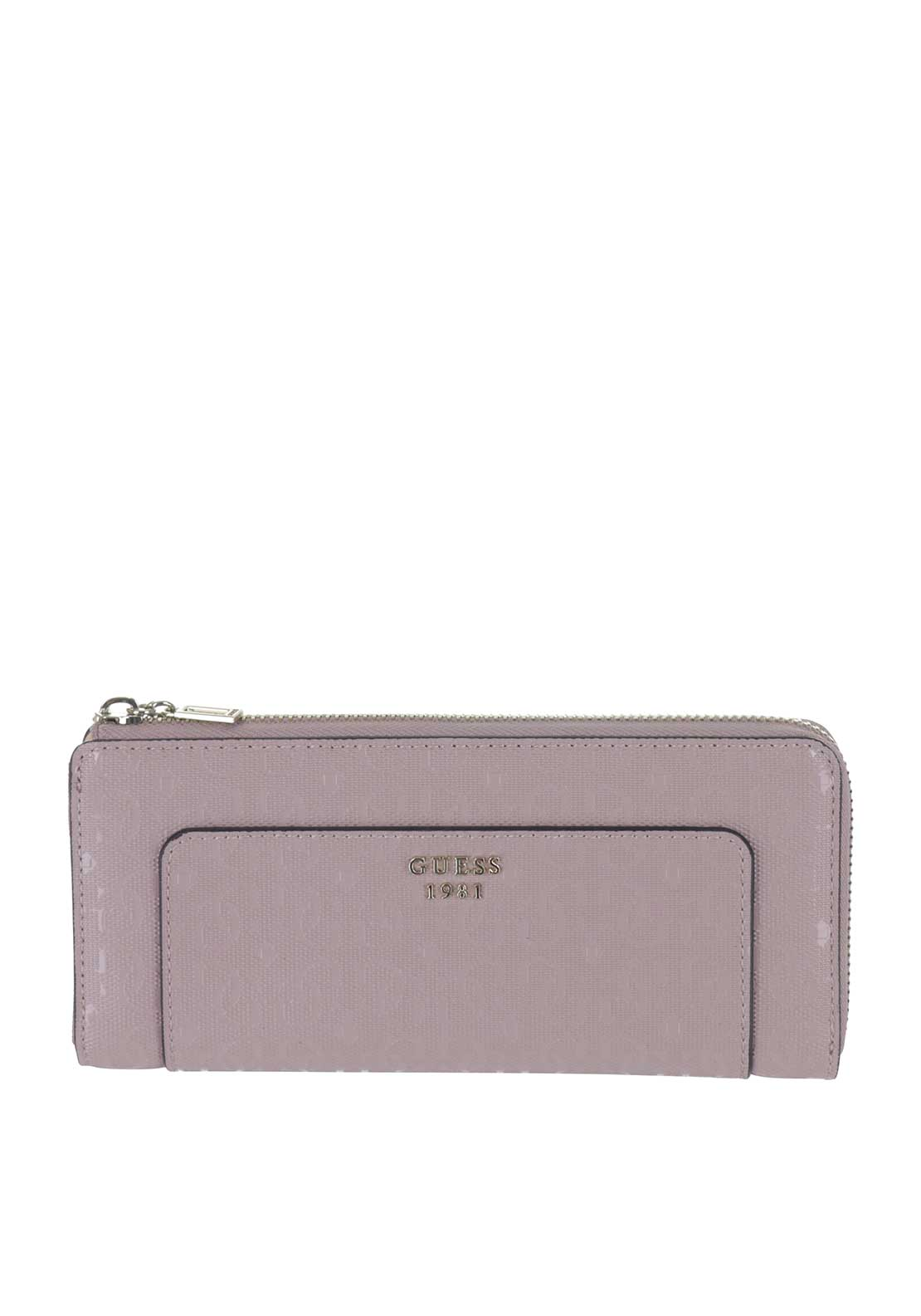 Guess Marian SLG Zip Around Purse, Blush