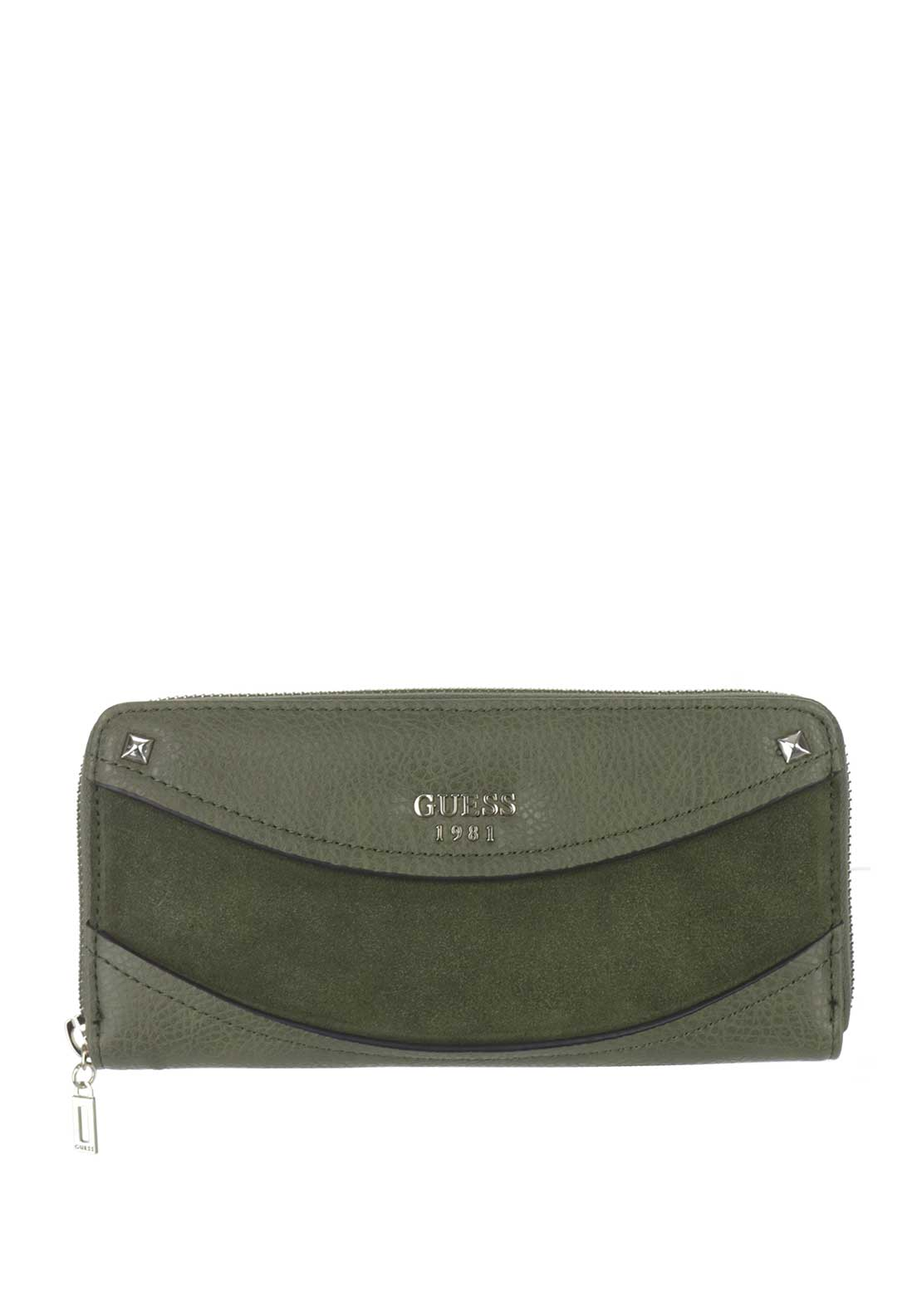 Guess Solene SLG Zip Around Purse, Olive