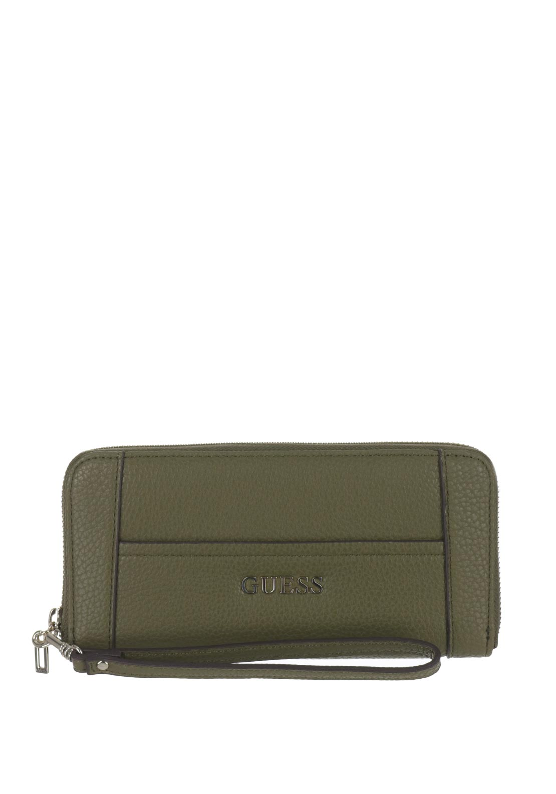 Guess Nikki Large Wristlet Zip Around Purse, Olive