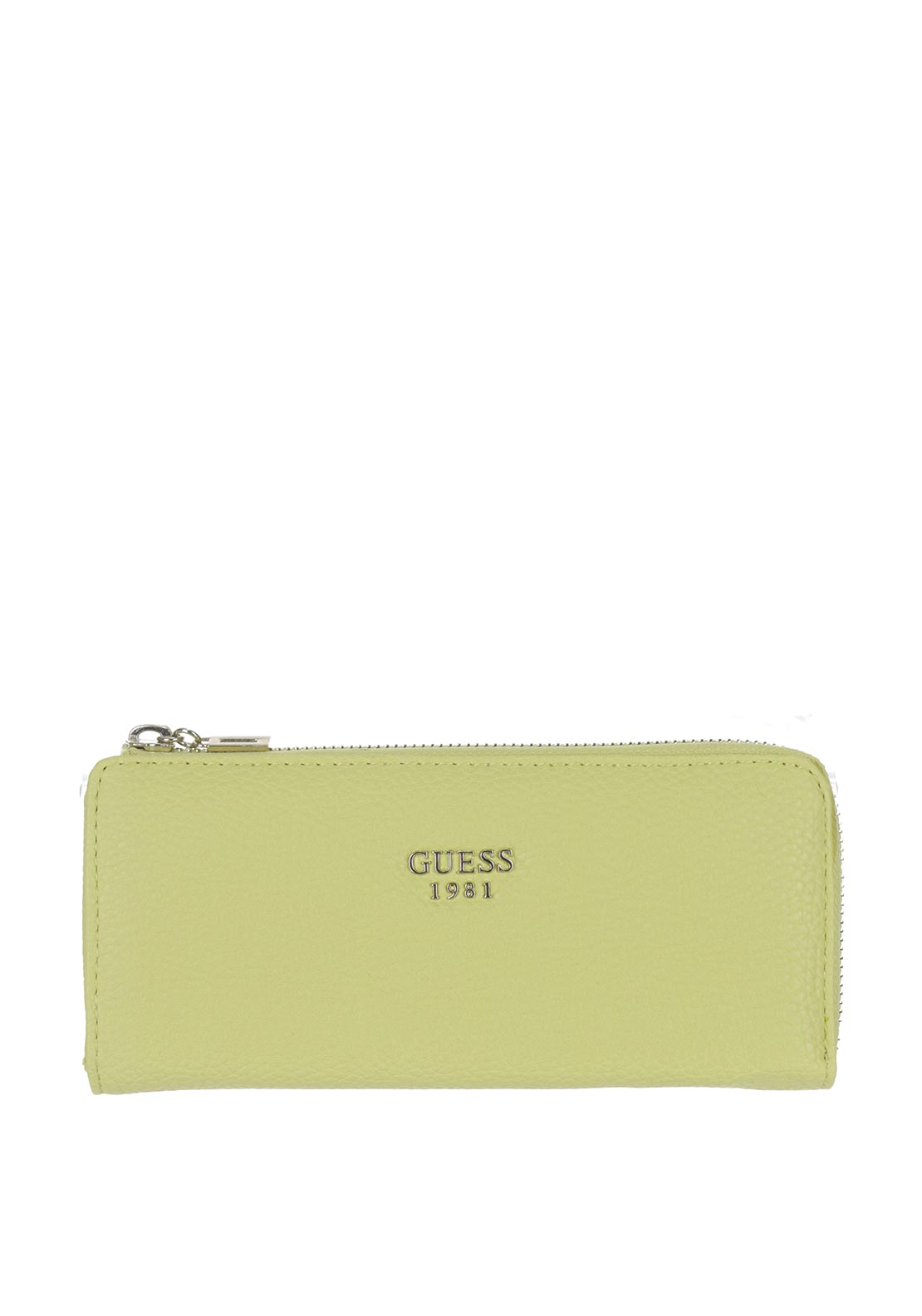 Guess Cate Zip Around Purse, Citron